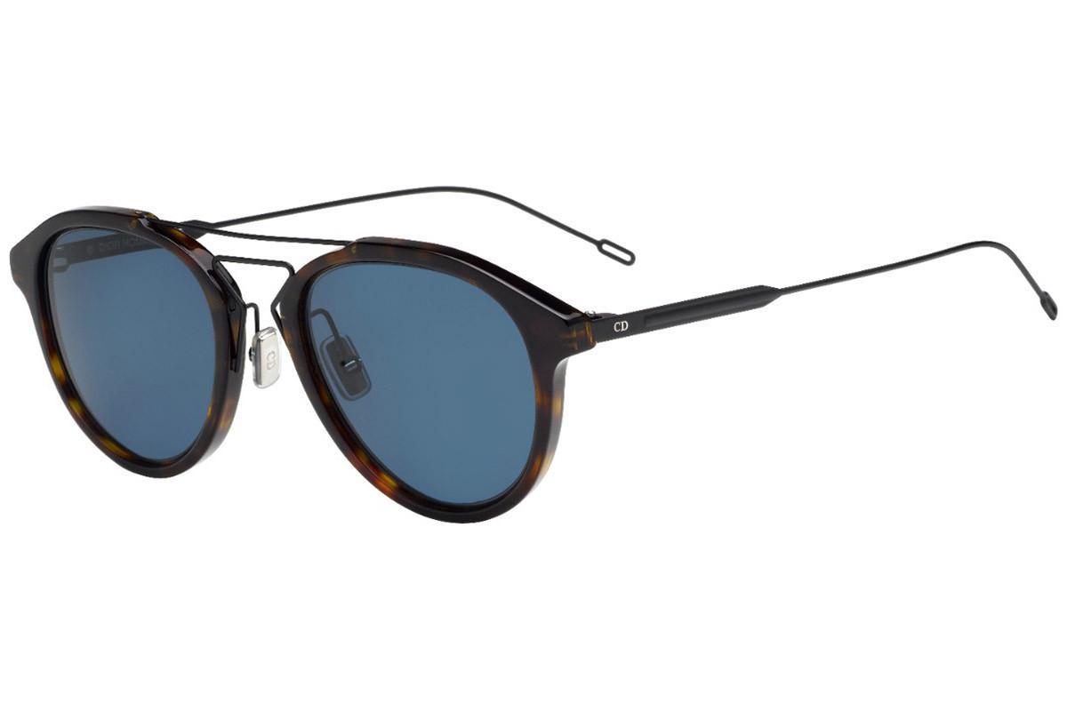 ba61dfe8ea4 Dior Homme. Men s Black Tie Black Tortoiseshell Frames With Polarized Black  Lenses ...