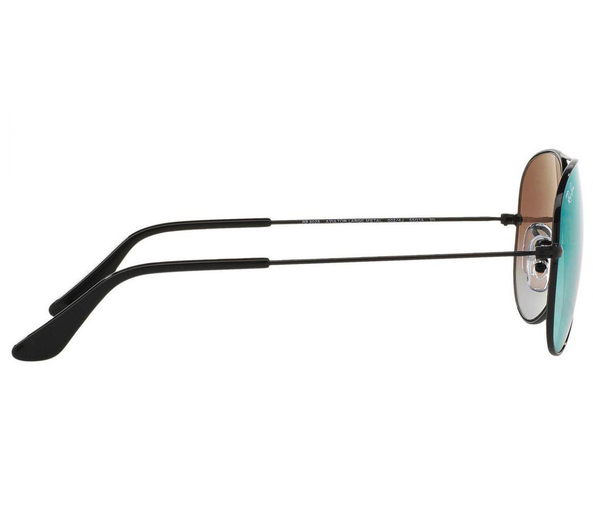 cafa2beb35 Ray-Ban - Aviator Flash Rb3025 002 4j Black Frames With Blue Lenses  Sunglasses. View fullscreen