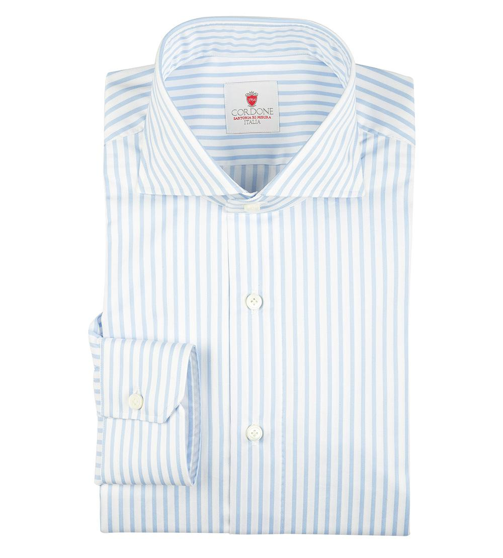 35470ca47f79 cordone-1956-white-White-And-Azure-Stripe-Cambridge-Cotton-Shirt.jpeg