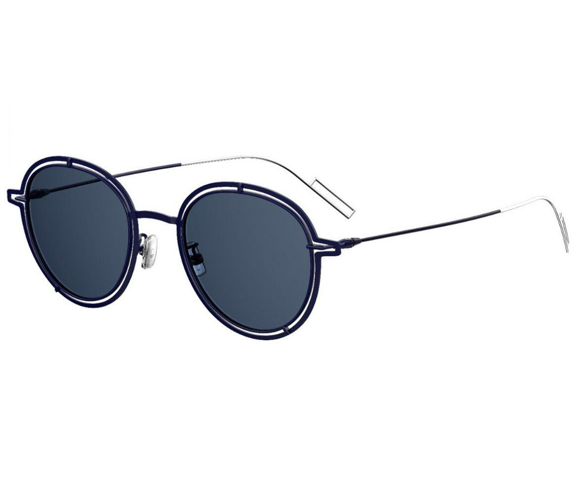 6a24aa8e960 Lyst - Dior Homme Navy Double Rim Frames With Blue Lenses Sunglasses ...