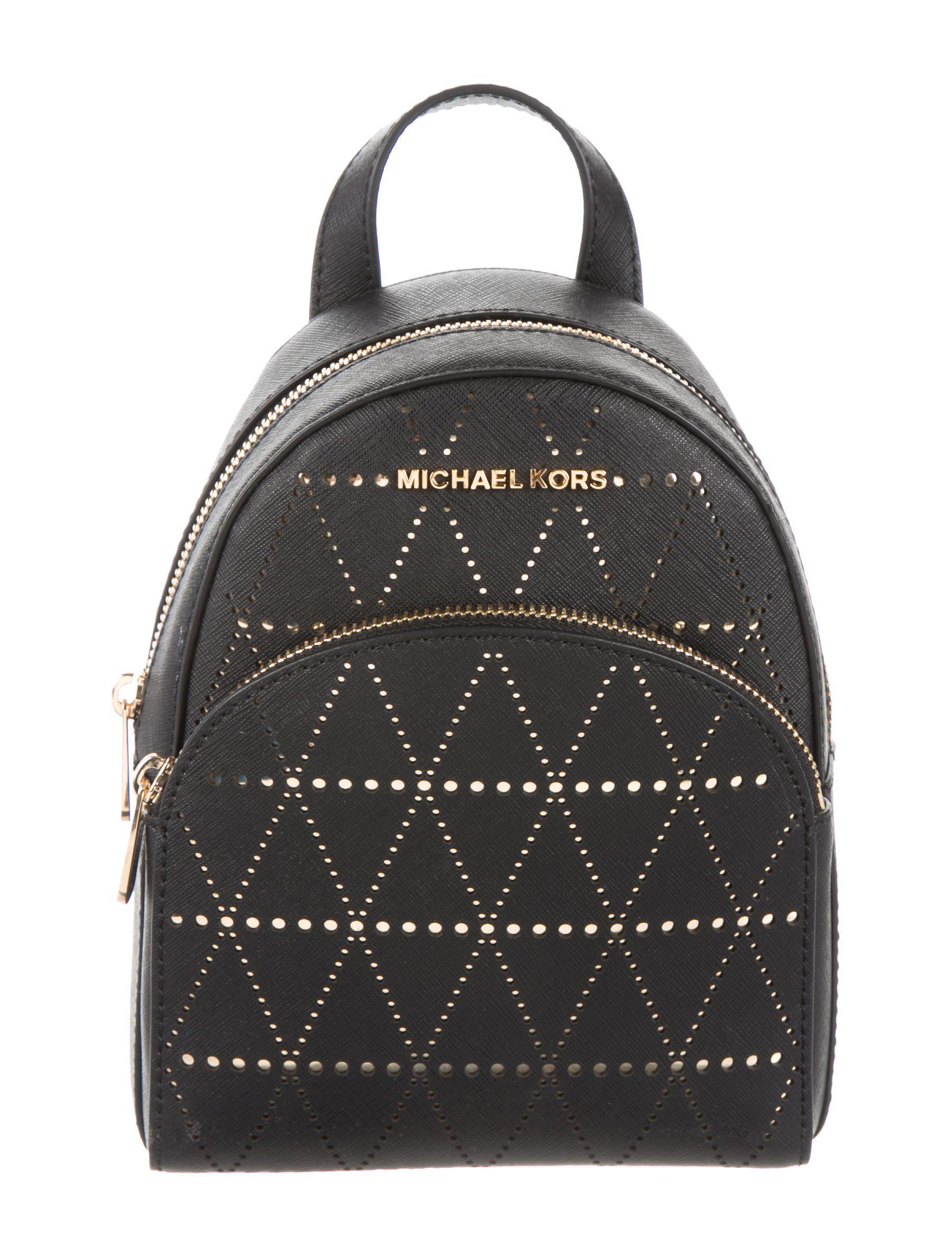27d83a096ce3 MICHAEL Michael Kors. Women s Metallic Michael Kors Leather Abbey Backpack  Black