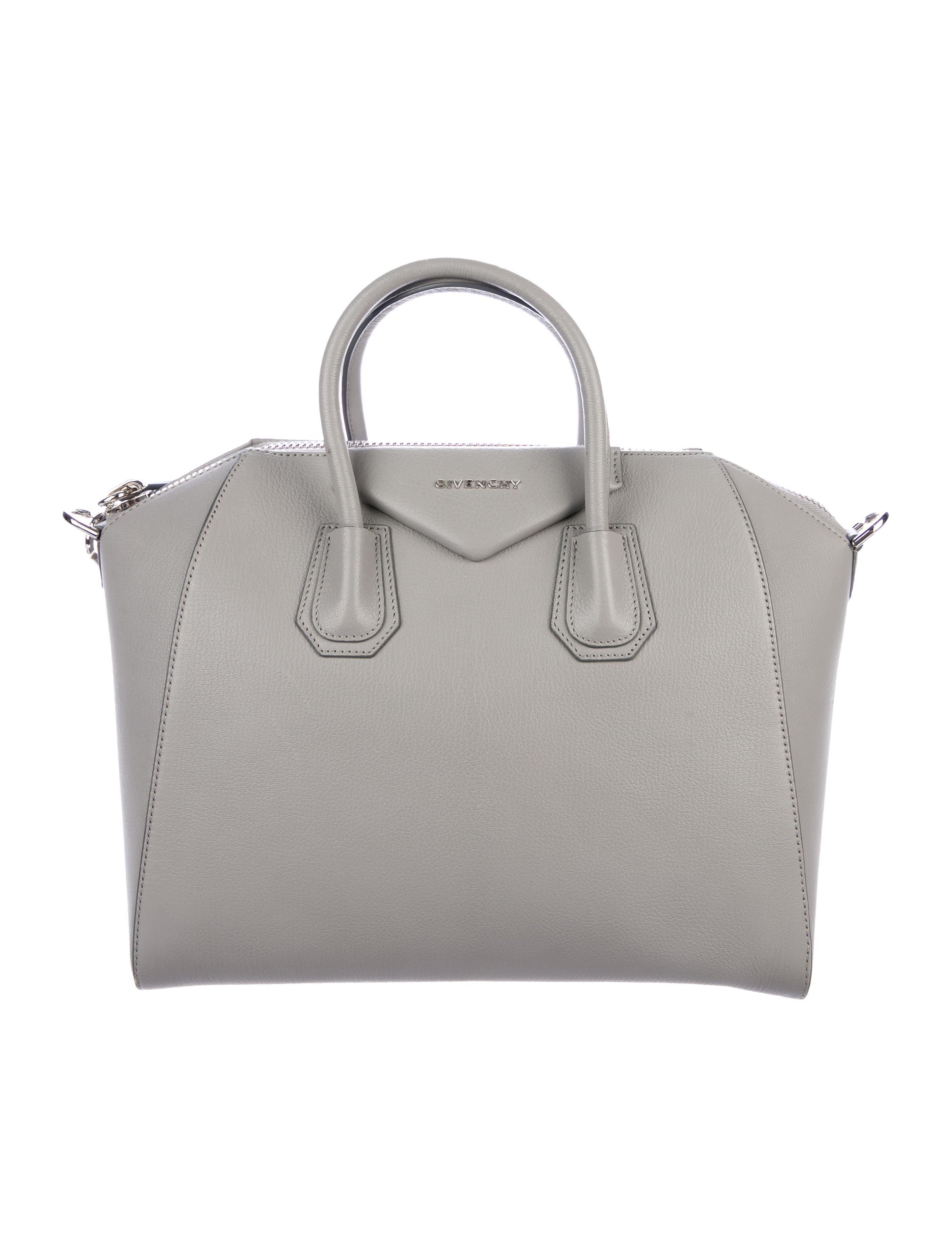 b6f89f0da4 Givenchy - Metallic Medium Antigona Satchel Grey - Lyst. View fullscreen