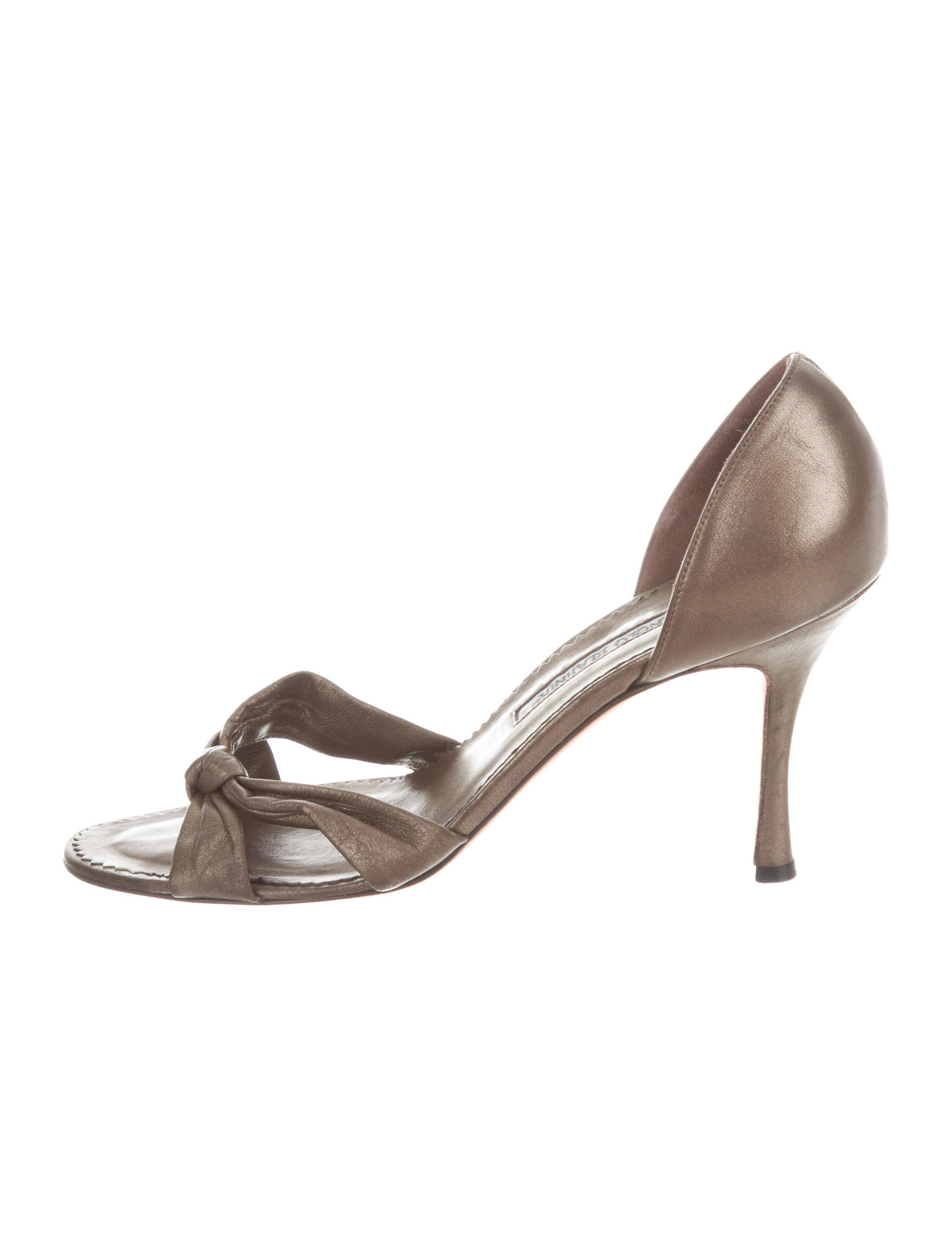 Manolo Blahnik Knot-Accented Slide Sandals with mastercard online Shop tumblr cheap online buy cheap with mastercard uDHD4Zlk