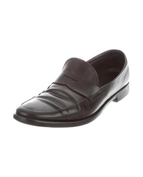 1f21100dd9c Lyst - Tod S Leather Penny Loafers in Black for Men