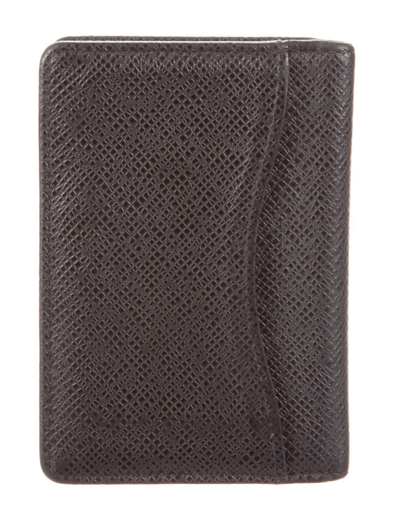 1493498750c4 Lyst - Louis Vuitton Taiga Card Holder in Black for Men