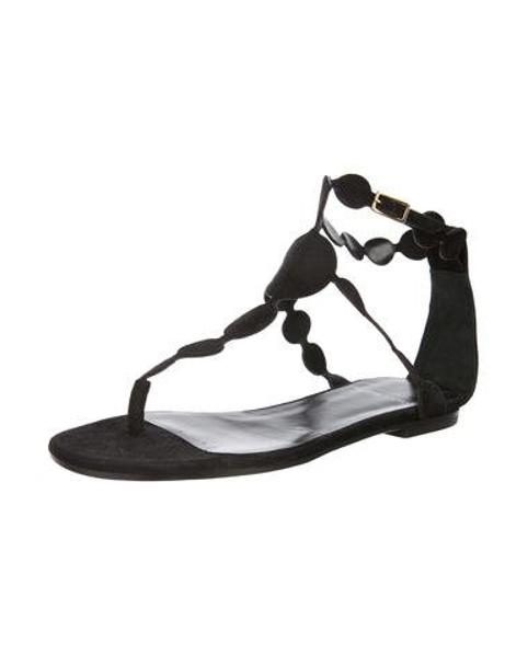 f77571cff84d3c Lyst - Pierre Hardy Suede Thong Sandals in Black