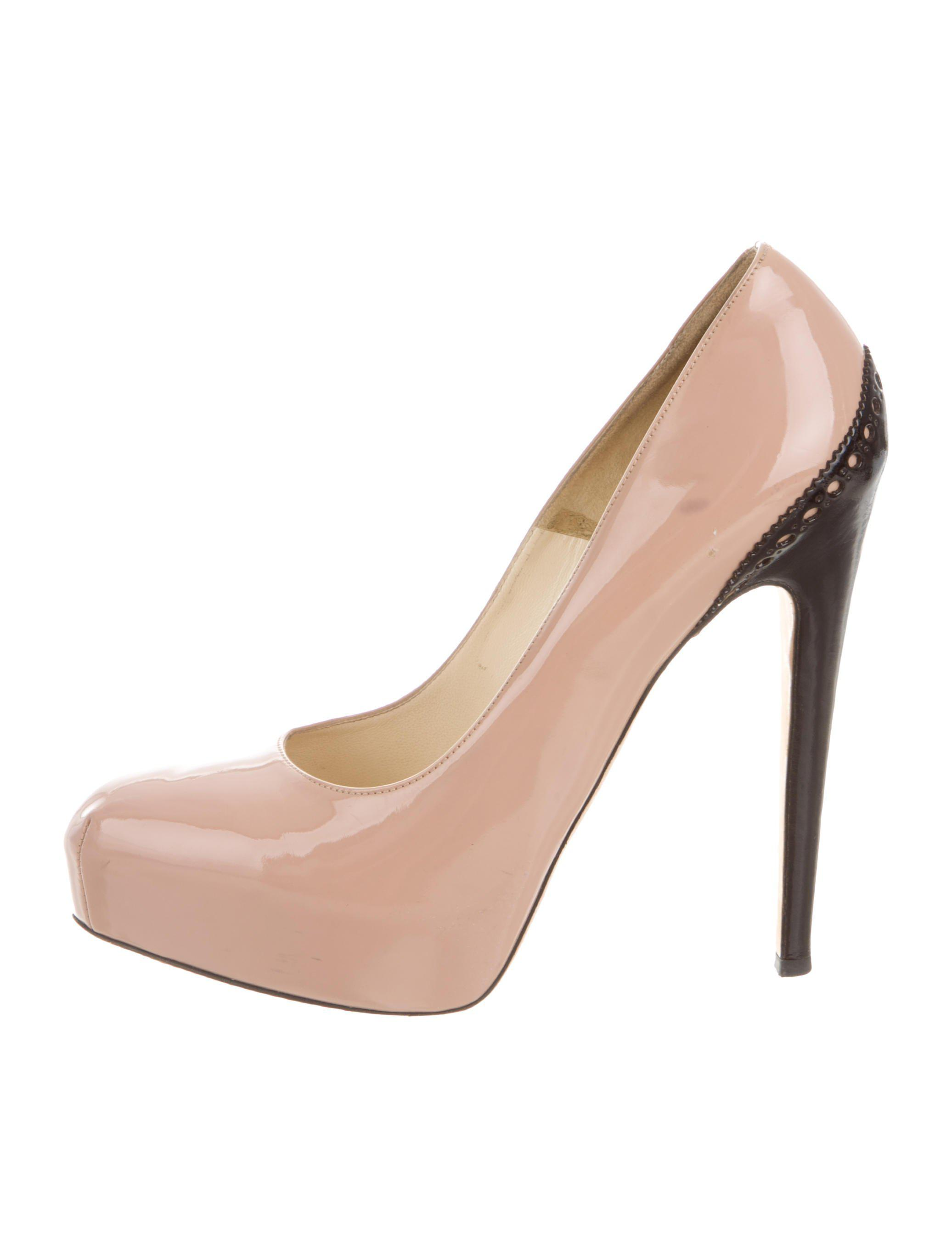 bf00245c370e Lyst - Brian Atwood Pointed-toe Platform Pumps Nude in Natural