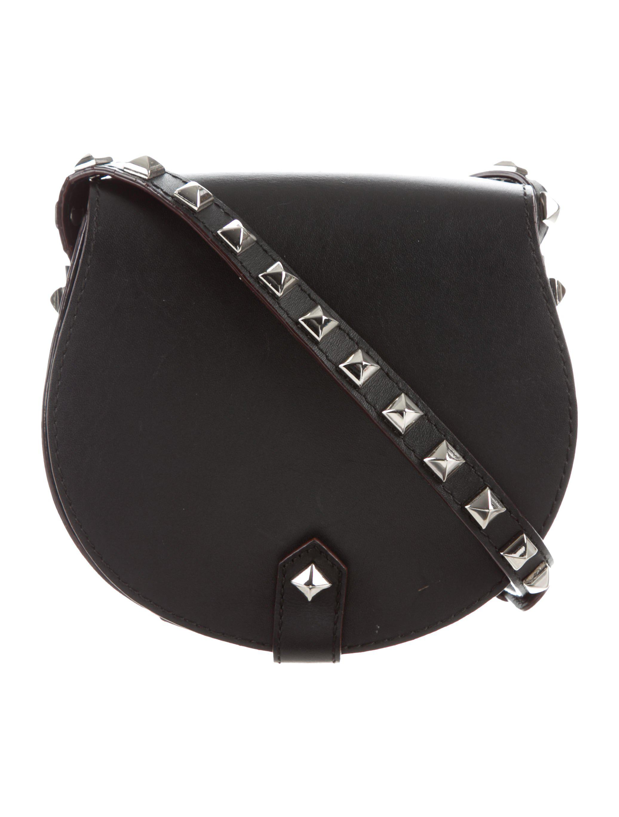 Lyst - Rebecca Minkoff Leather Astor Saddle Bag Black in Metallic 11d8533bfd058