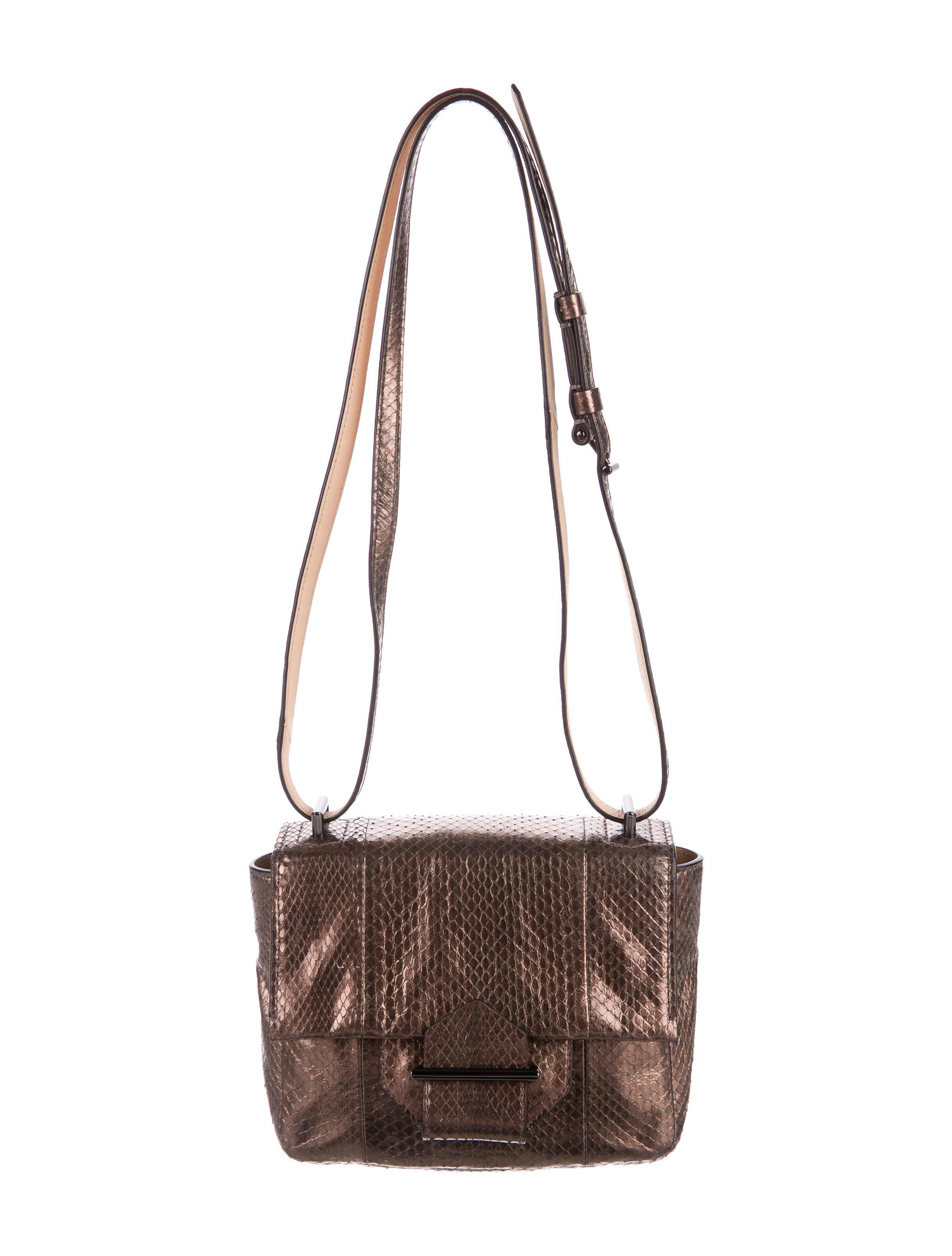 b7efb8eb770d Reed Krakoff. Women s Natural Snakeskin Standard Mini Shoulder Bag Metallic