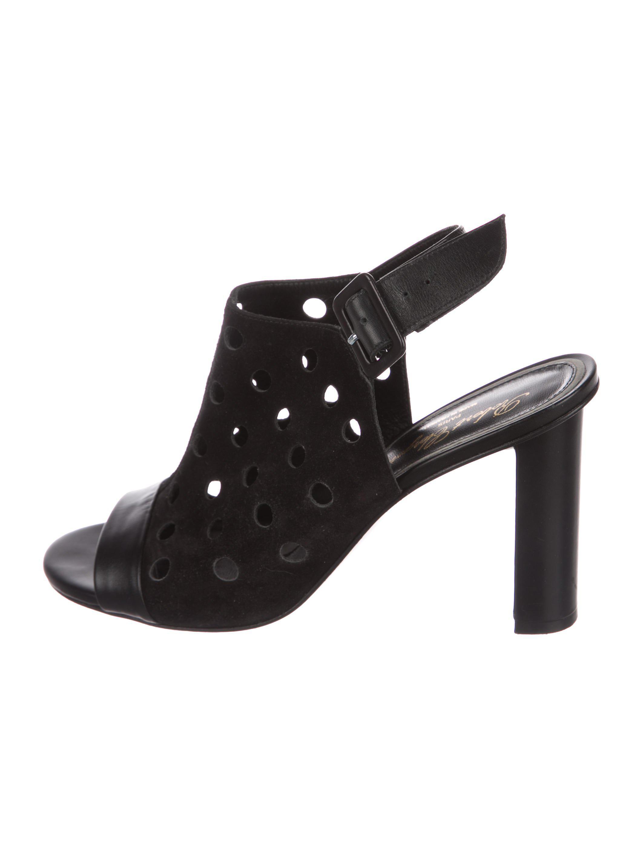 Robert Clergerie Suede Cutout Sandals wide range of cheap online lDO3S27f