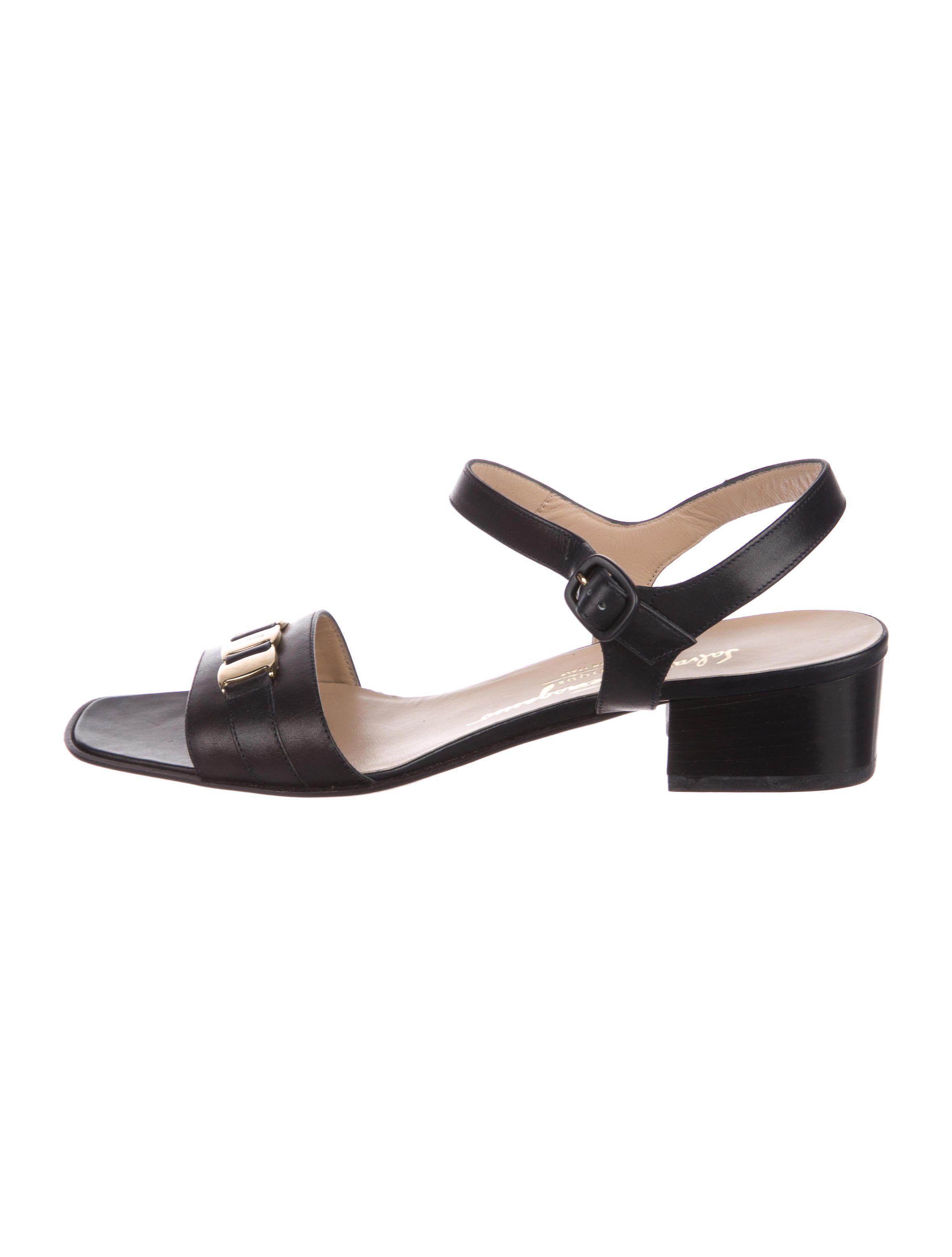 8eeed5ff1634 Lyst - Ferragamo Demy Leather Sandals W  Tags Black in Metallic