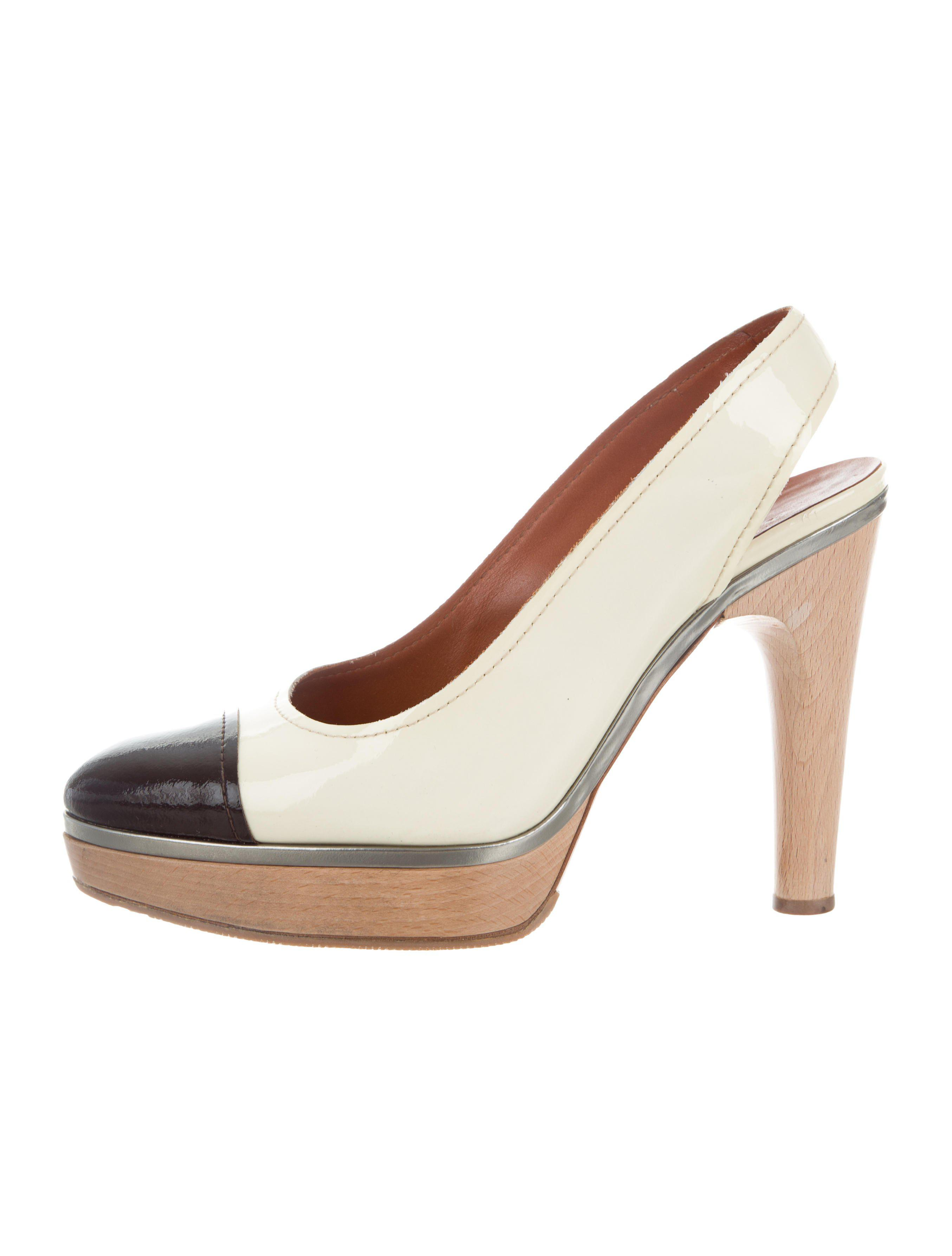 cheap browse clearance for nice Lanvin Slingback Platform Pumps IPlyeaLV5