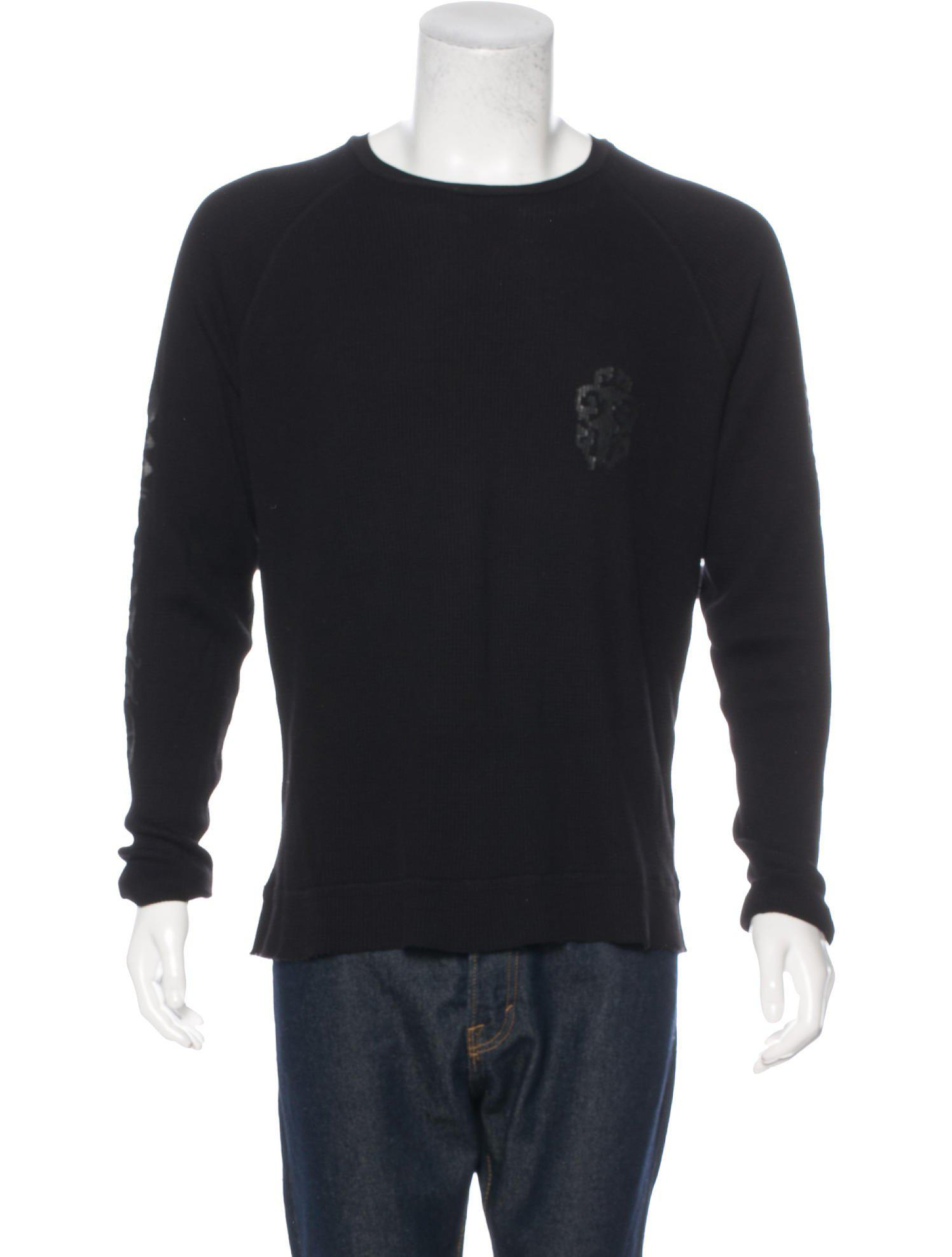 f1797b0ffe72 Lyst - Chrome Hearts Long Sleeve Thermal T-shirt in Black for Men