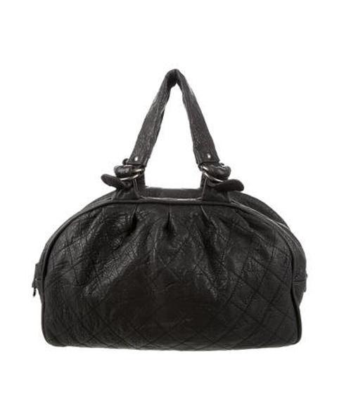 Chanel Women S Metallic Le Marais Weekender Bag Silver