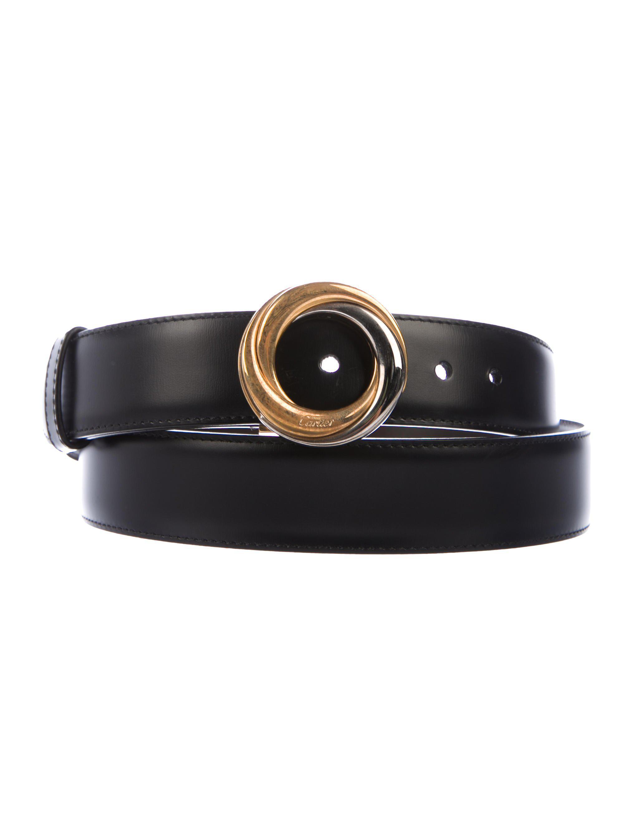 3254748317c3 Lyst - Cartier Trinity Reversible Leather Belt Black in Metallic for Men