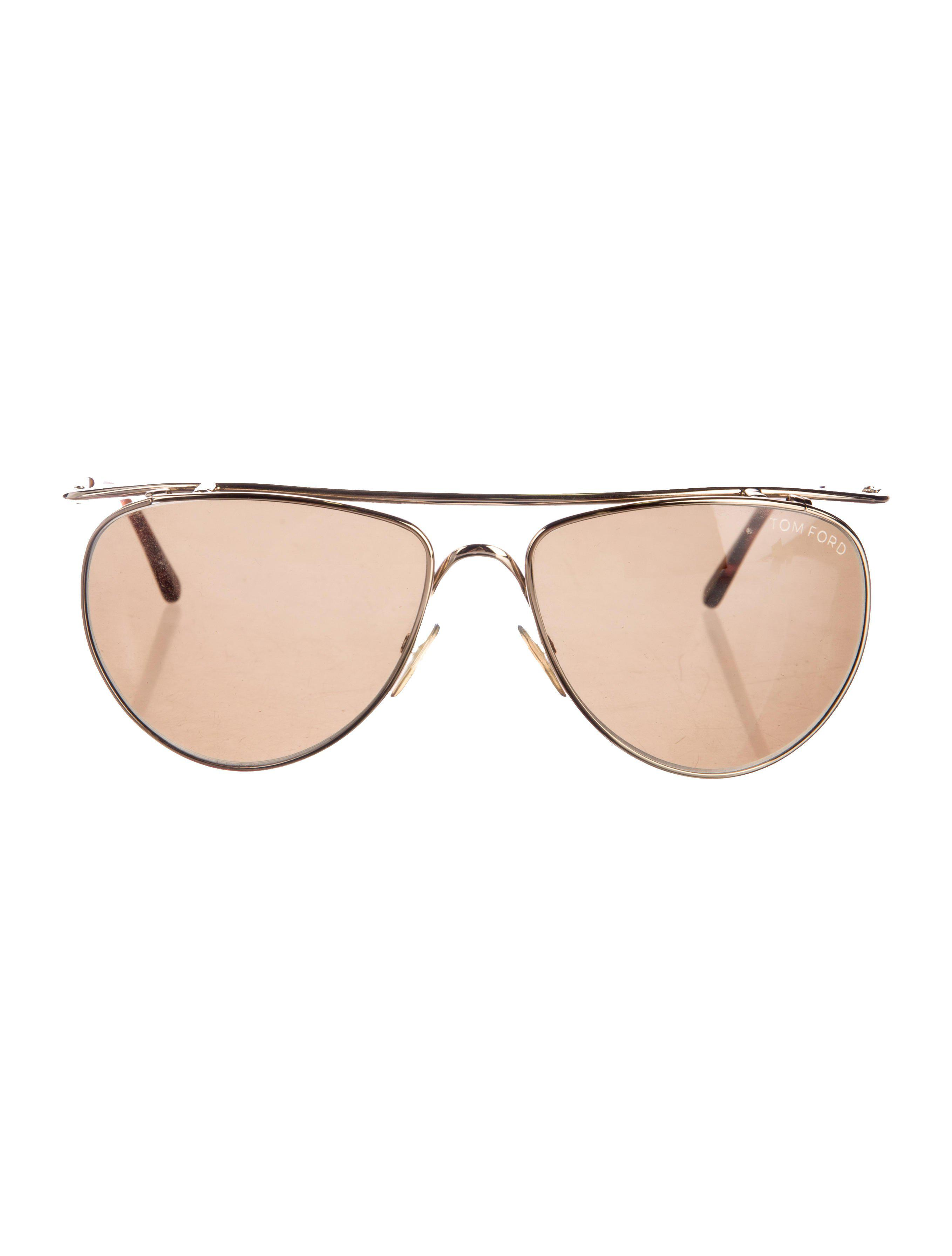 ce3aba9d10 Lyst - Tom Ford James Aviator Sunglasses Gold in Metallic