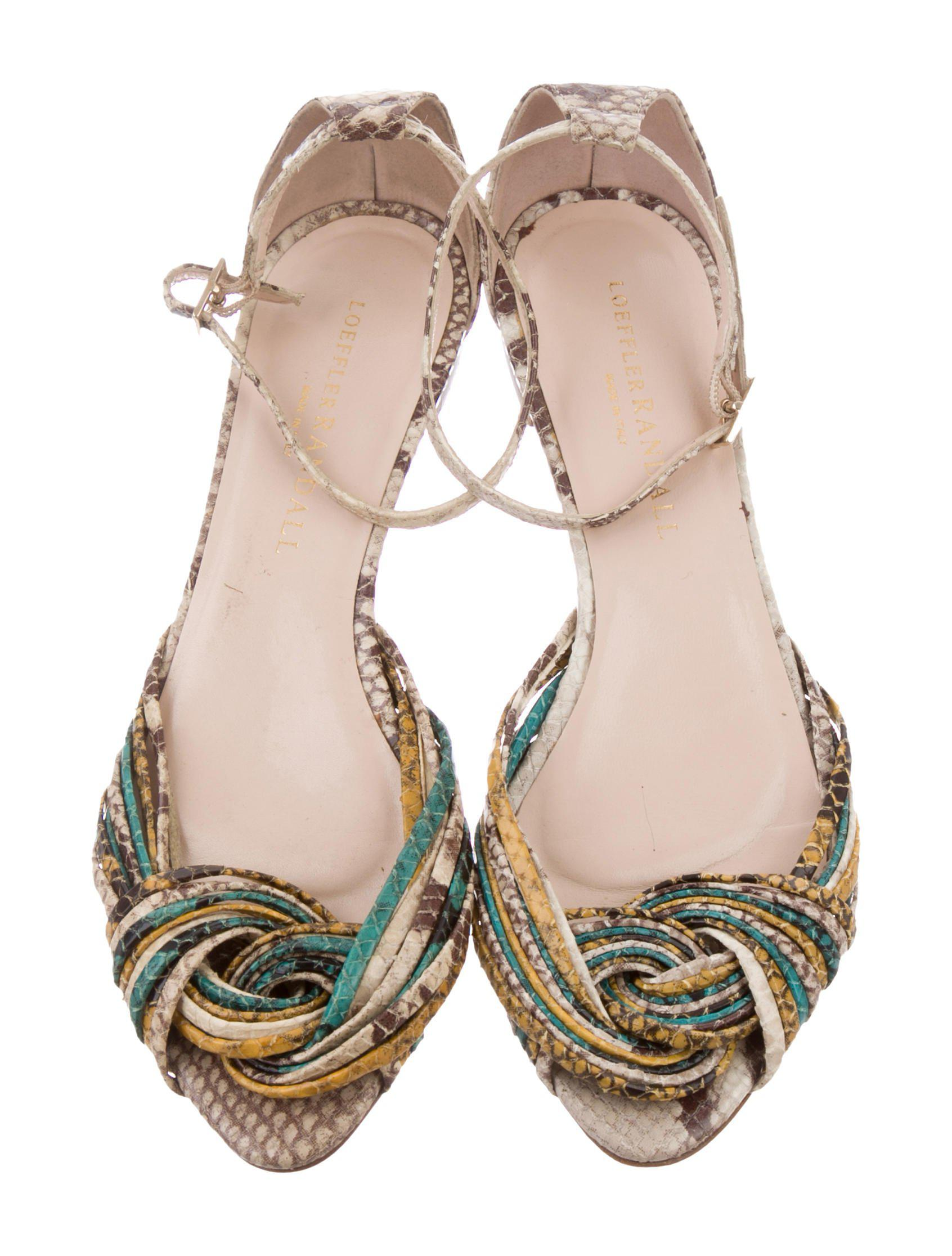 cheap sale for nice cheap high quality Loeffler Randall Twist-Accented Snakeskin Sandals buy cheap high quality clearance new styles low price cheap price JRFxeeJyc