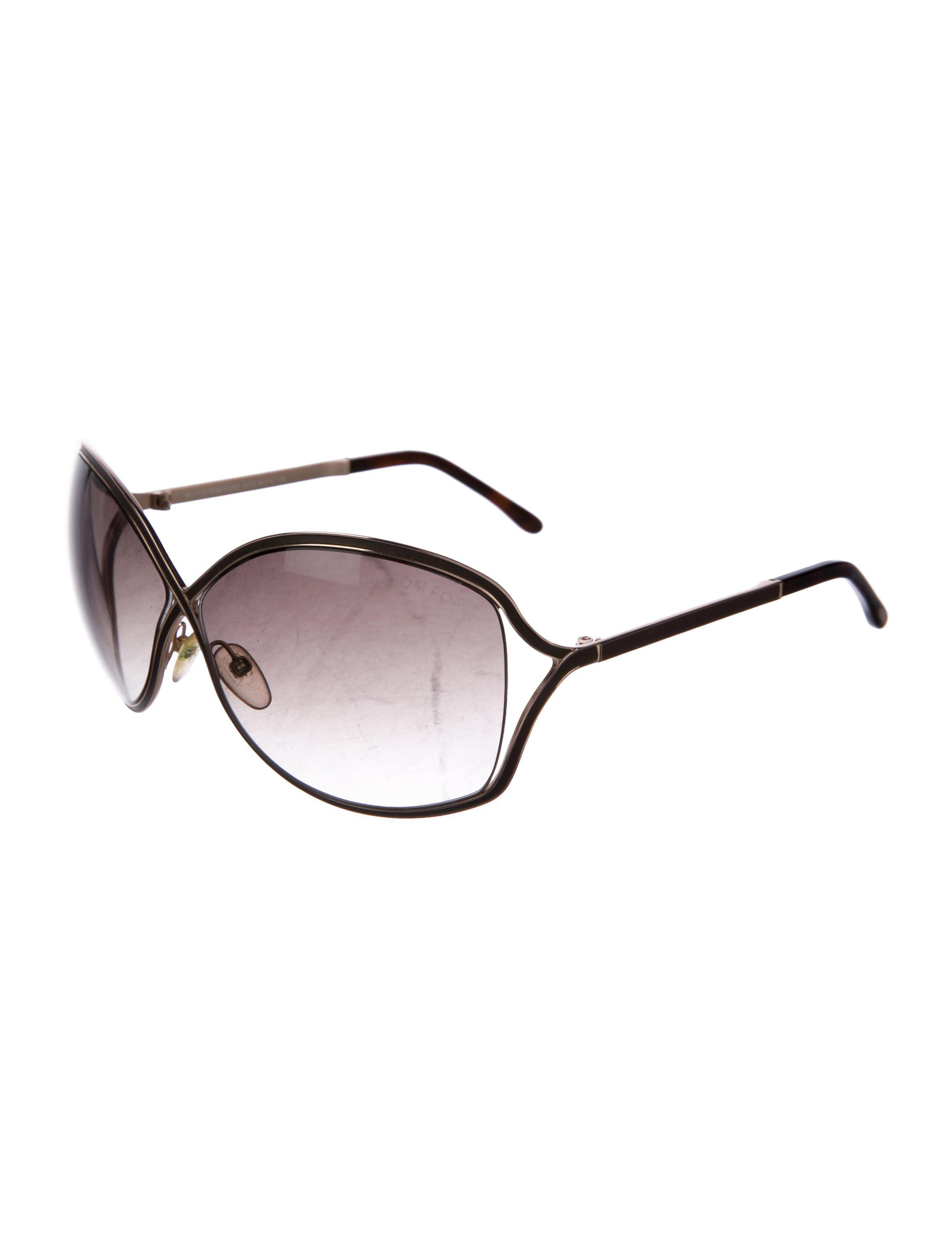 7d7925757c2cf Lyst - Tom Ford Rickie Gradient Sunglasses Gold in Metallic