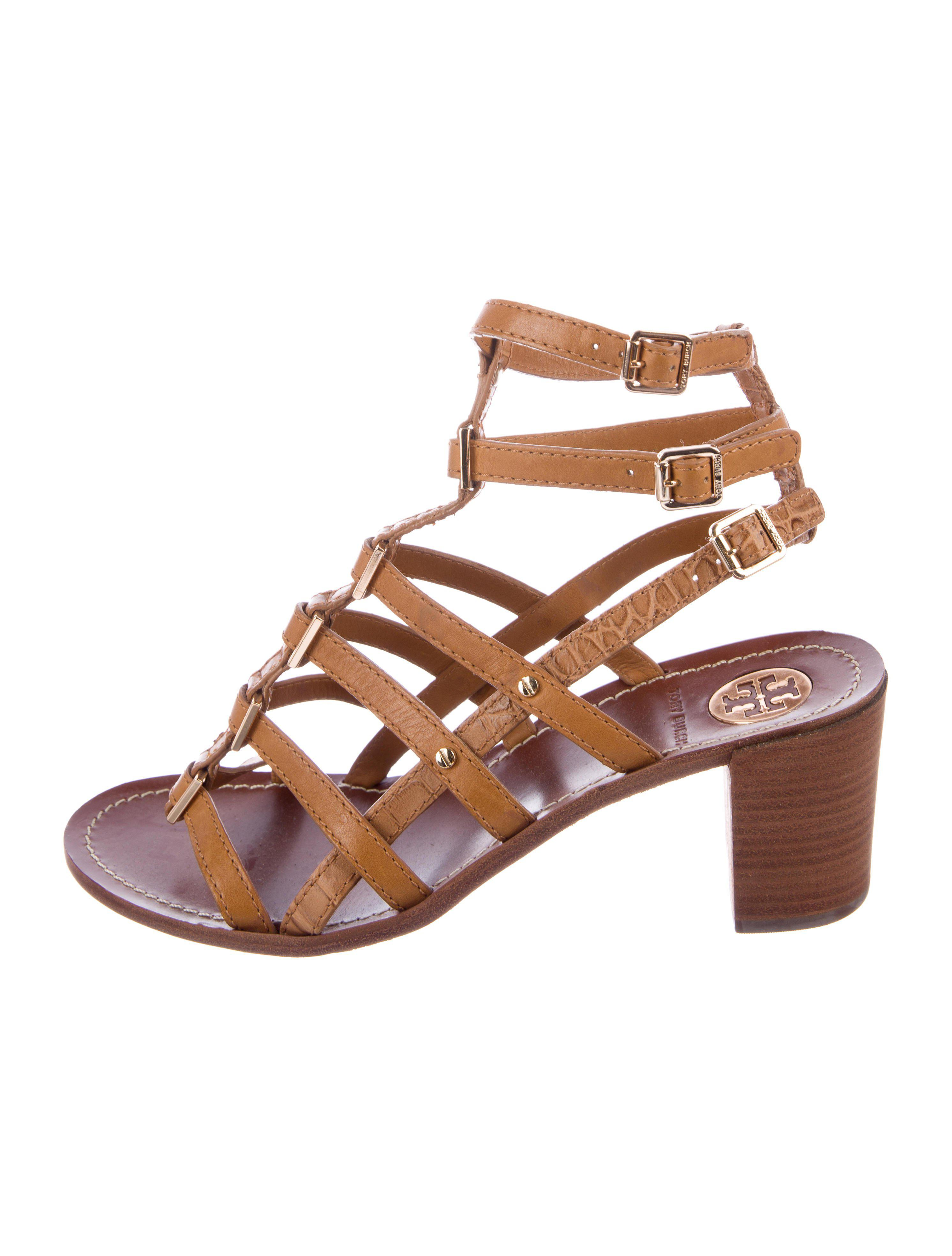 professional for sale Tory Burch Leather Caged Sandals clearance enjoy clearance brand new unisex mwXxde