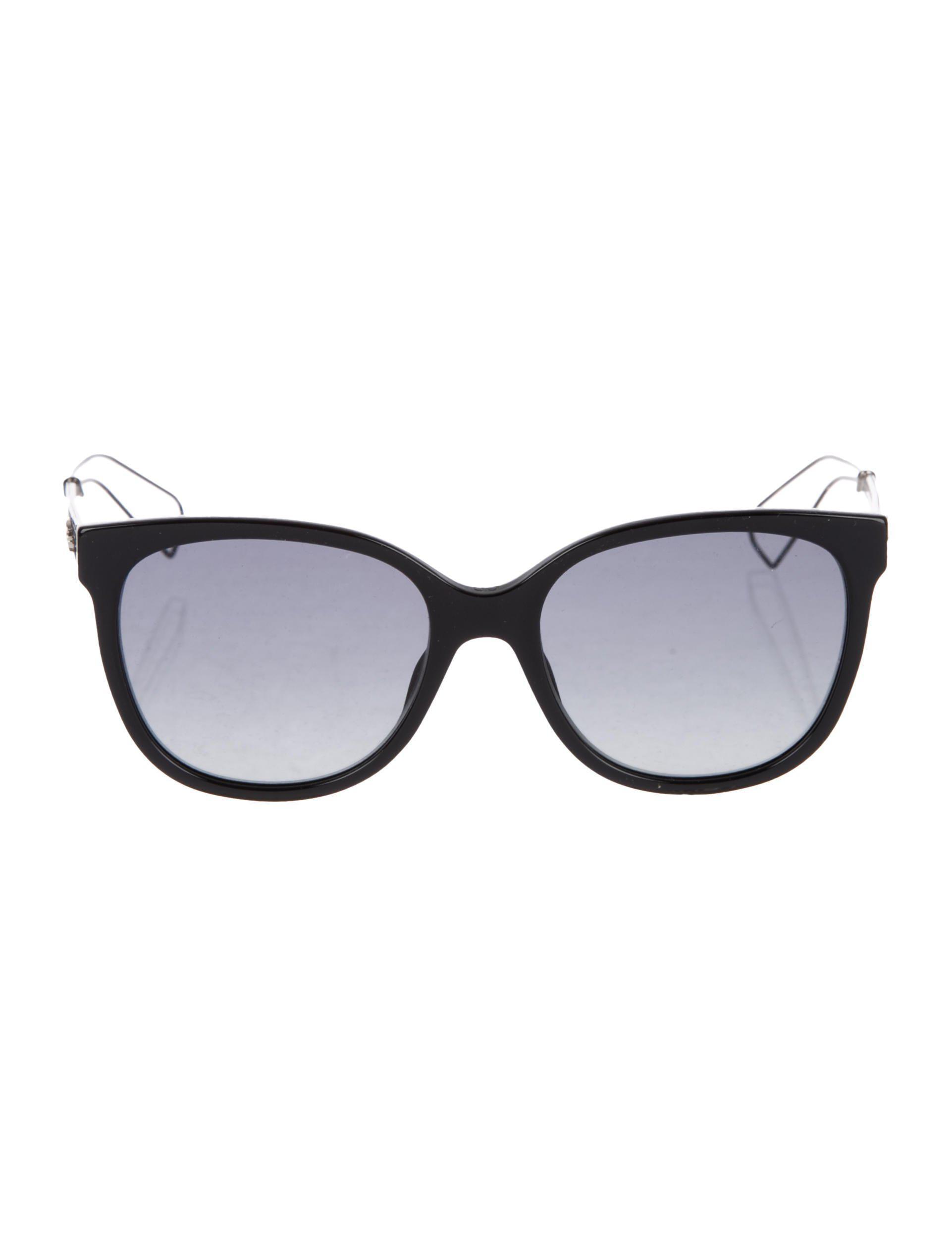 f458fc258dd7 Lyst - Dior Diorama 3 Sunglasses in Black