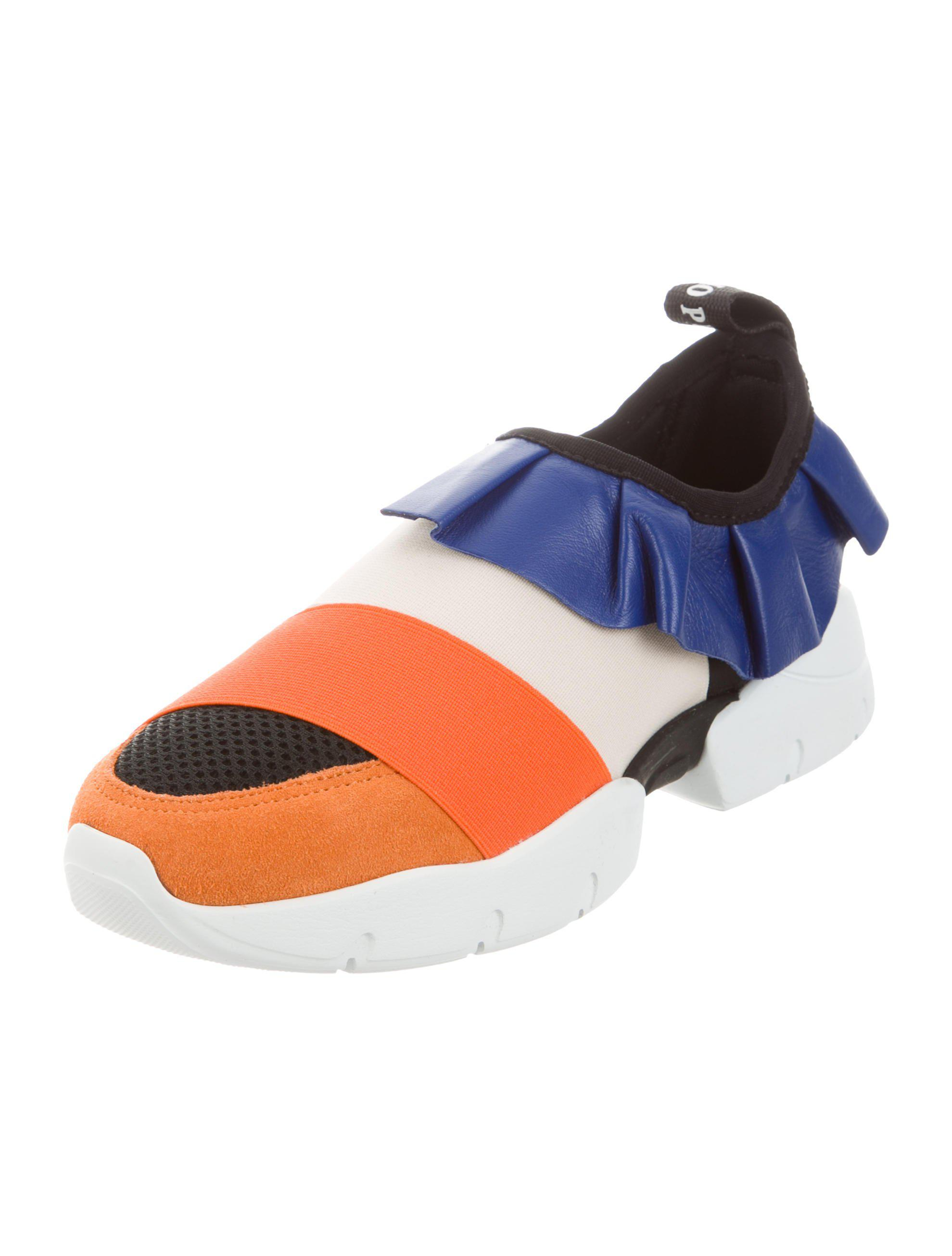 Emilio Pucci 2017 Ruffle Sneakers w/ Tags cheap original for sale official site QEh86X3pL