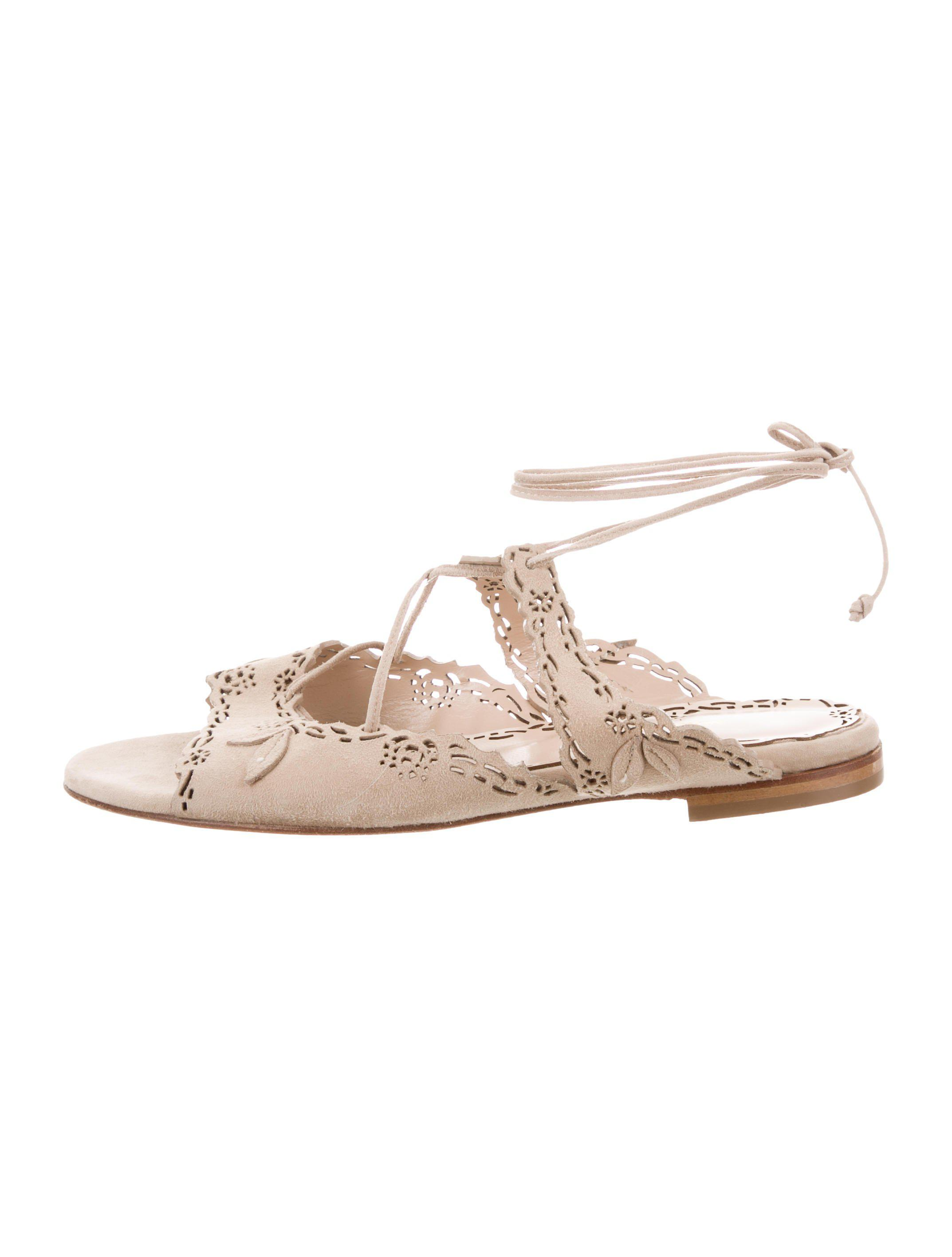Marchesa Laser Cut Slide Sandals sale very cheap sale 100% guaranteed online for sale WgwqXy