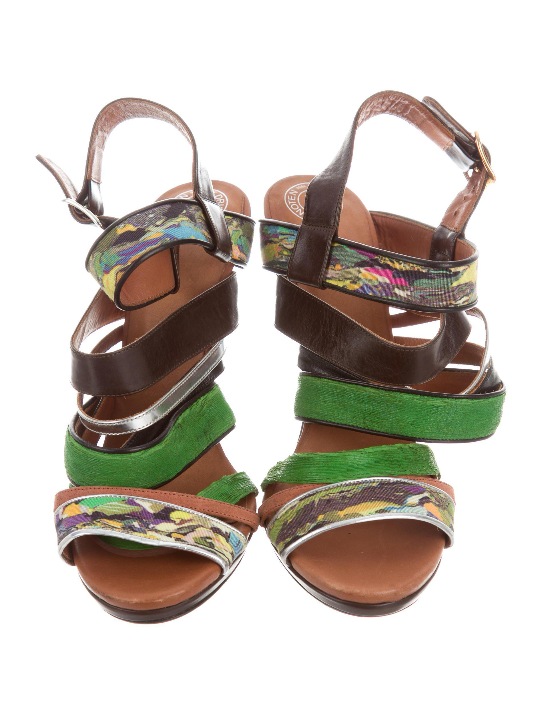 Dries Van Noten Multistrap Leather Sandals sale 100% guaranteed cheap sale from china cheap sale cheapest price u07Q49cW72