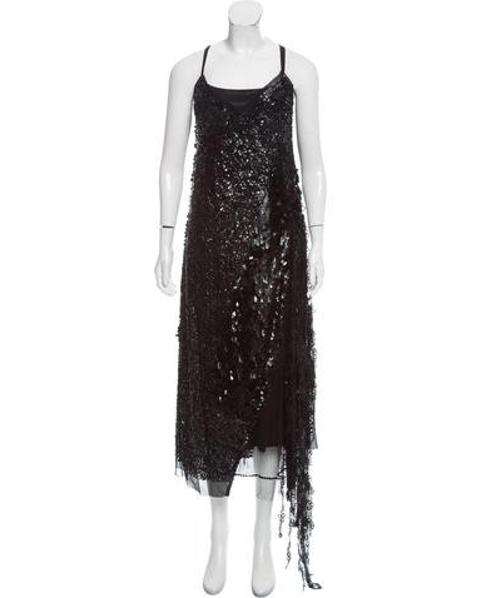cfaf0e3922f Lyst - Marc Jacobs Embellished Silk Dress W  Tags in Black