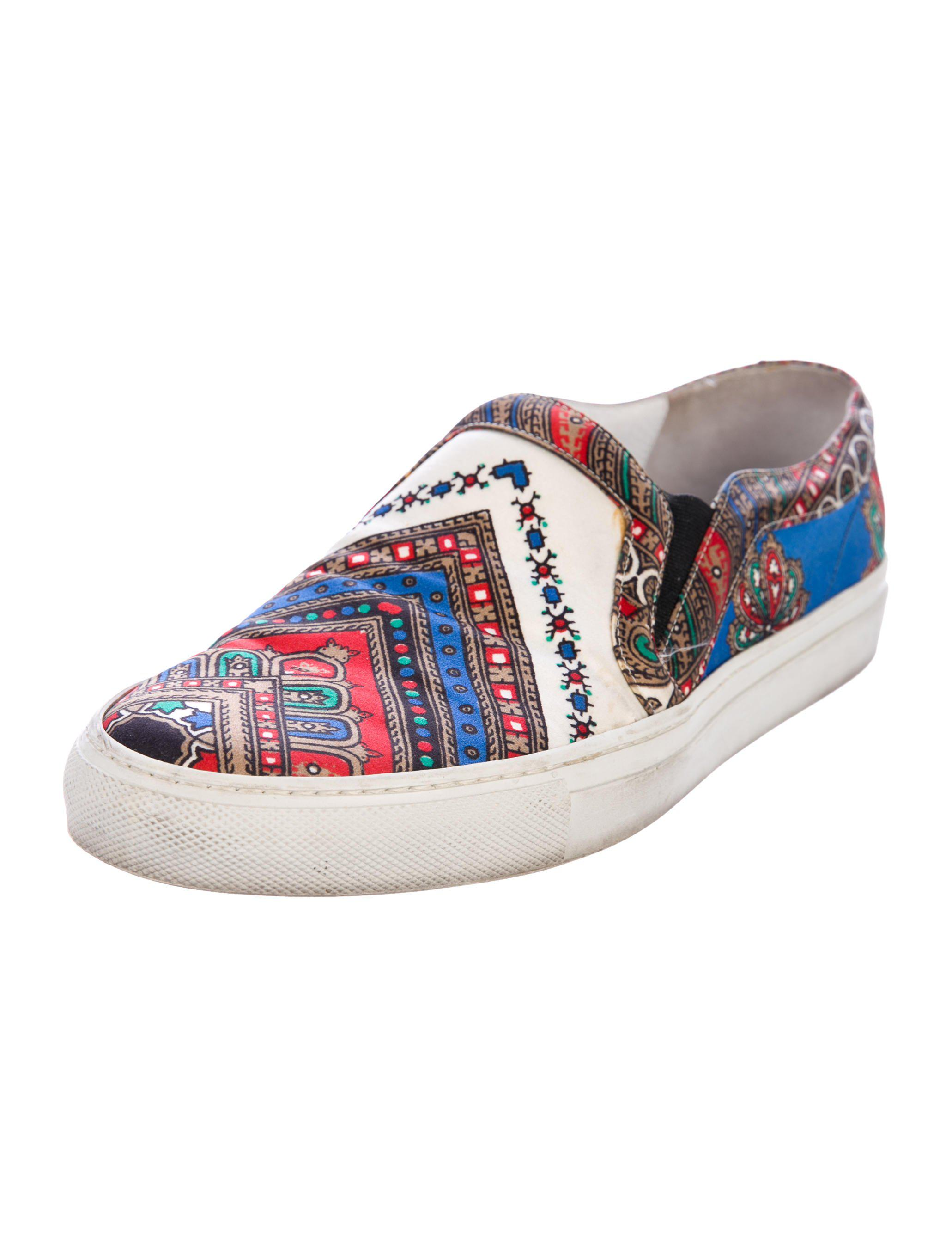 Givenchy Printed Satin Slip-On Sneakers discount visit Qeqmsh
