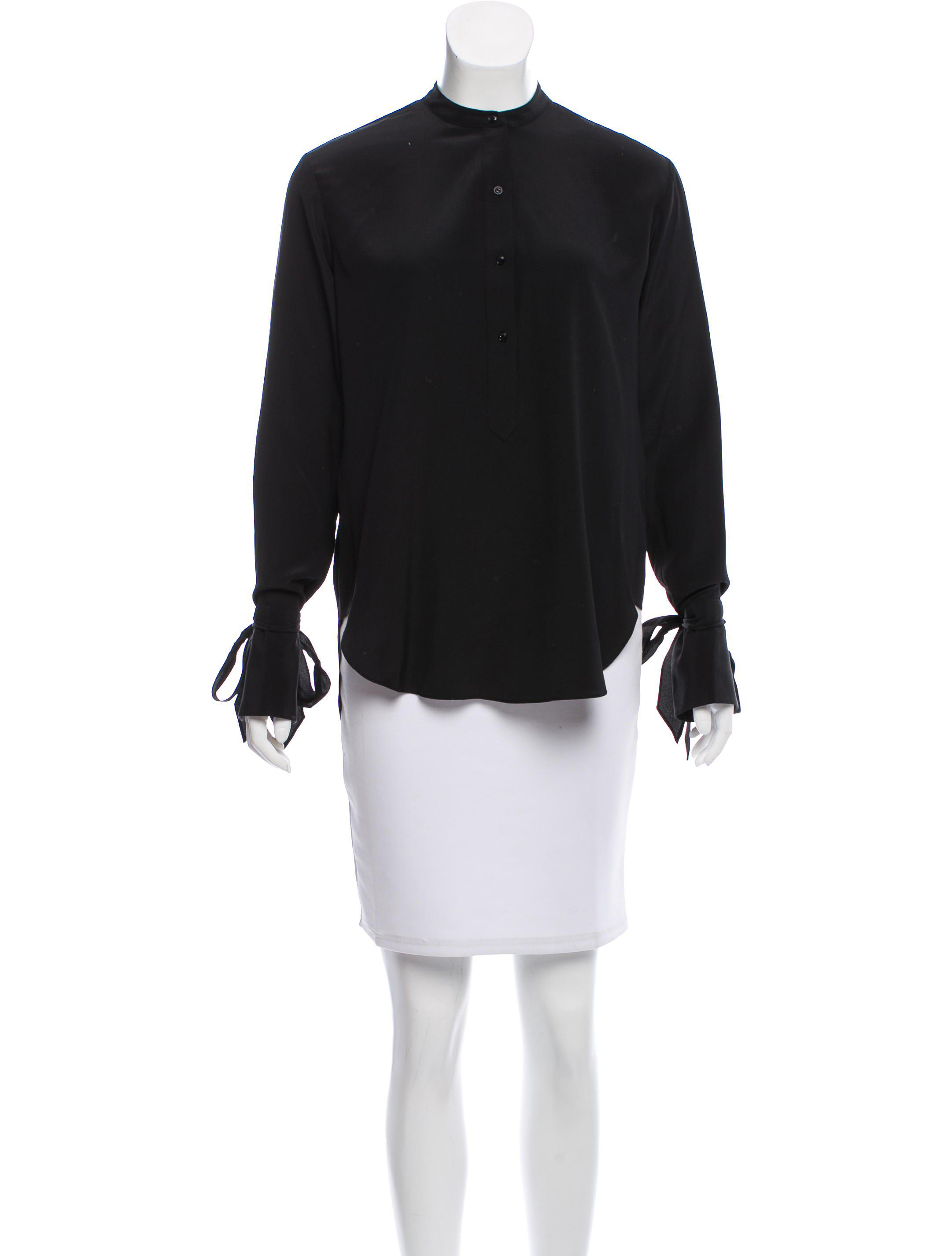 a7bee9cf8e8cbe Lyst - Rag   Bone Silk Cutout Top in Black