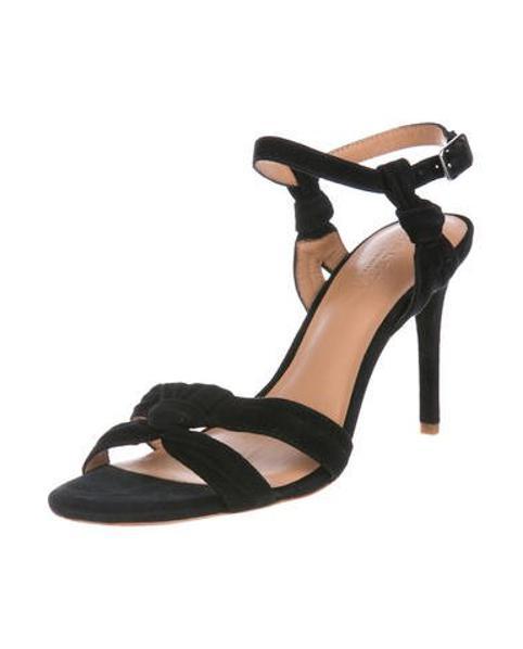 fb115746f65 Lyst - Halston Heritage Melanie Suede Sandals in Black