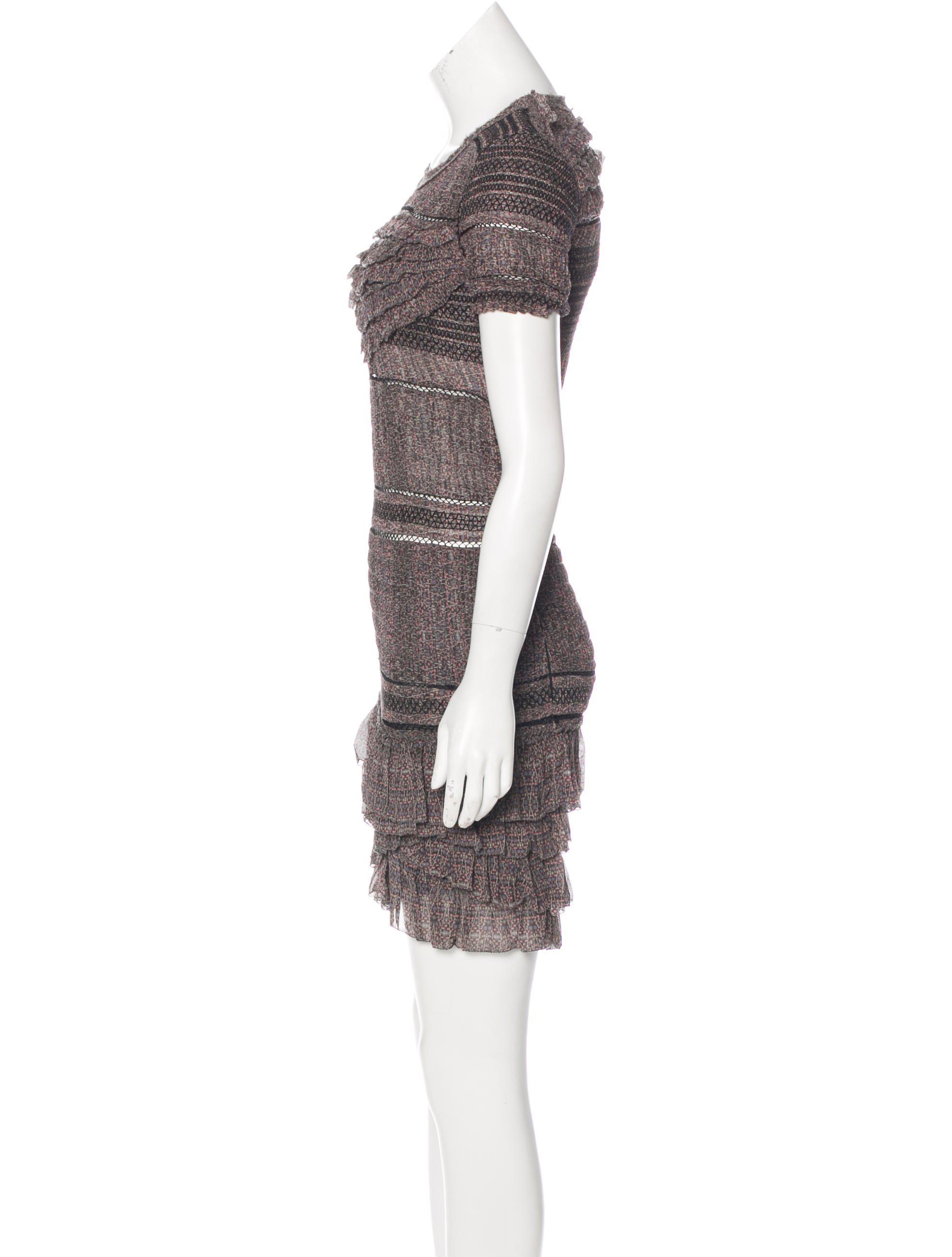 Lyst - Isabel Marant Silk Crepe Dress Aubergine in Purple