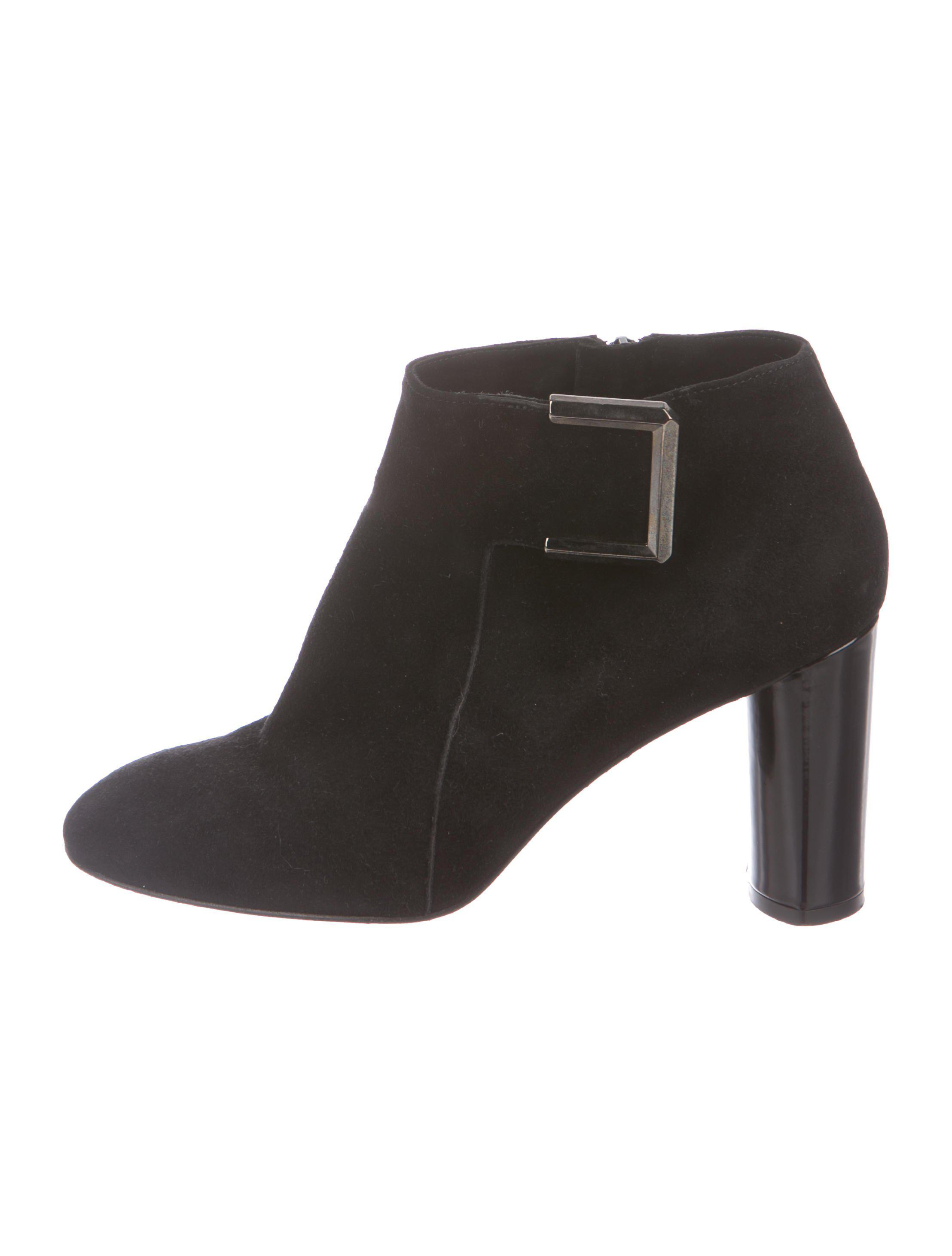 Robert Clergerie Clergerie Paris Suede Round-Toe Booties buy cheap limited edition cheap sale free shipping sale footlocker finishline cheap sale 2015 n2hkD85IK