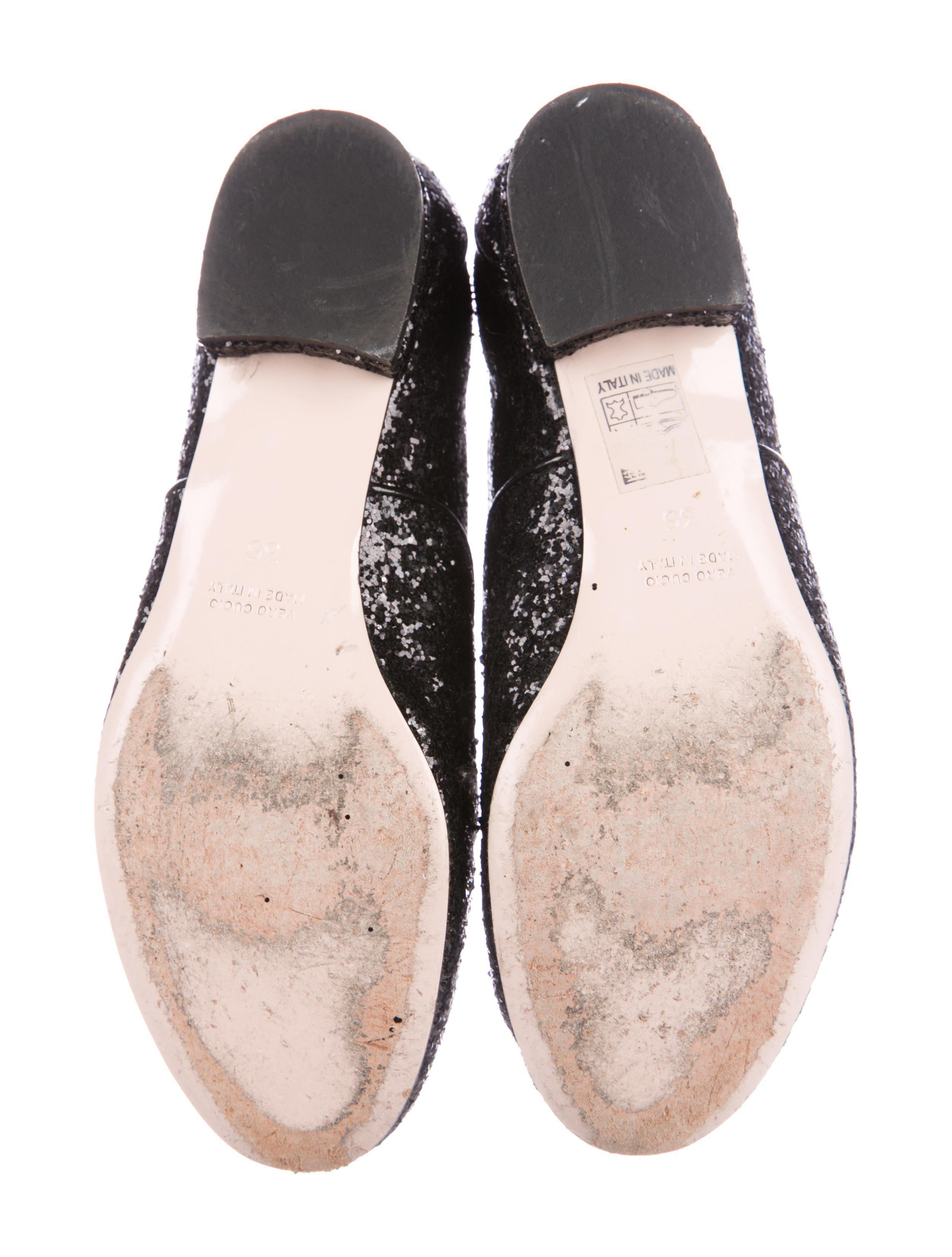 discount reliable big sale for sale Red Valentino Glitter Round-Toe Oxfords nAUTyT1