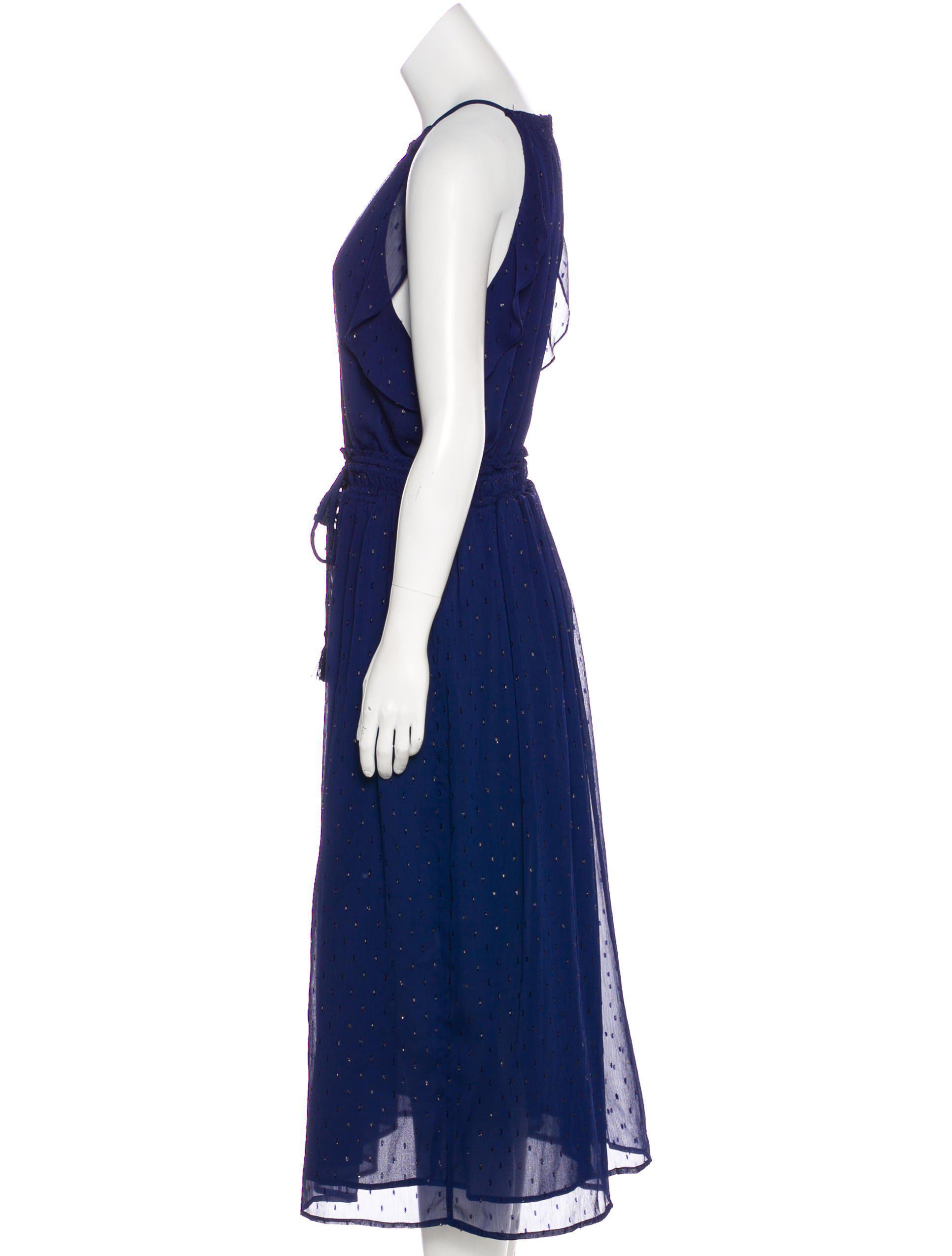 Lyst - Michael Michael Kors Michael Kors Devoré Evening Dress in Blue