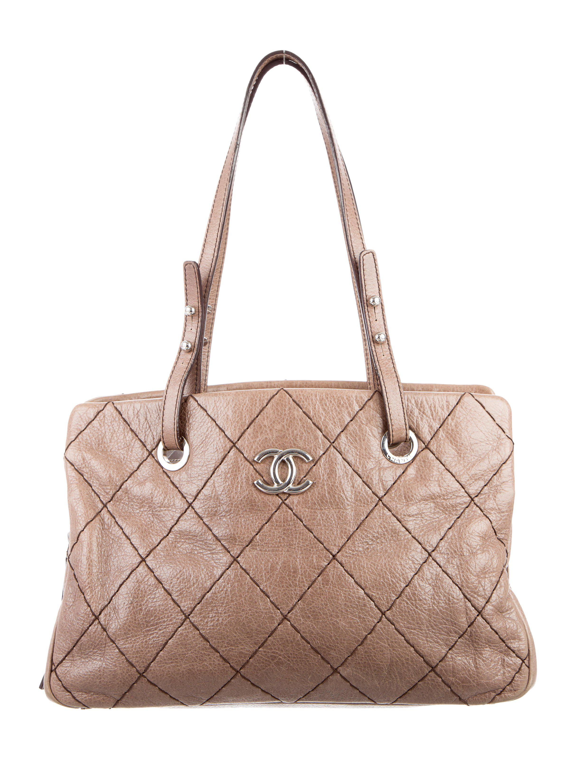 Lyst - Chanel On The Road Zip Tote Brown in Metallic b103491123565