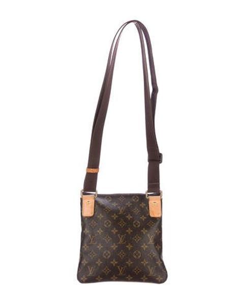 Lyst - Louis Vuitton Monogram Pochette Valmy Brown in Natural c957169871f2c