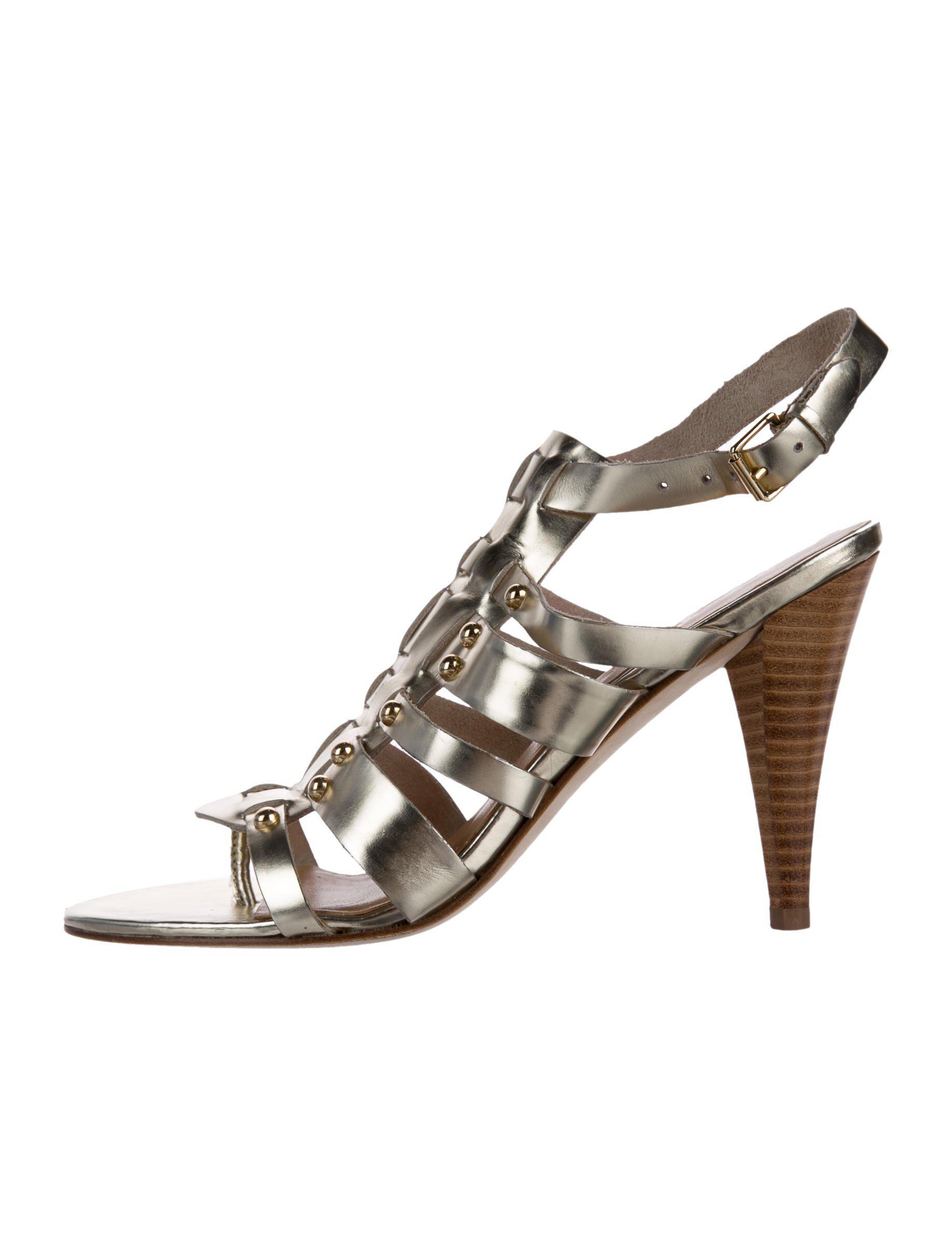 0d6ee4a456a4 Lyst - Michael Michael Kors Michael Kors Caged Sandals Gold in Metallic