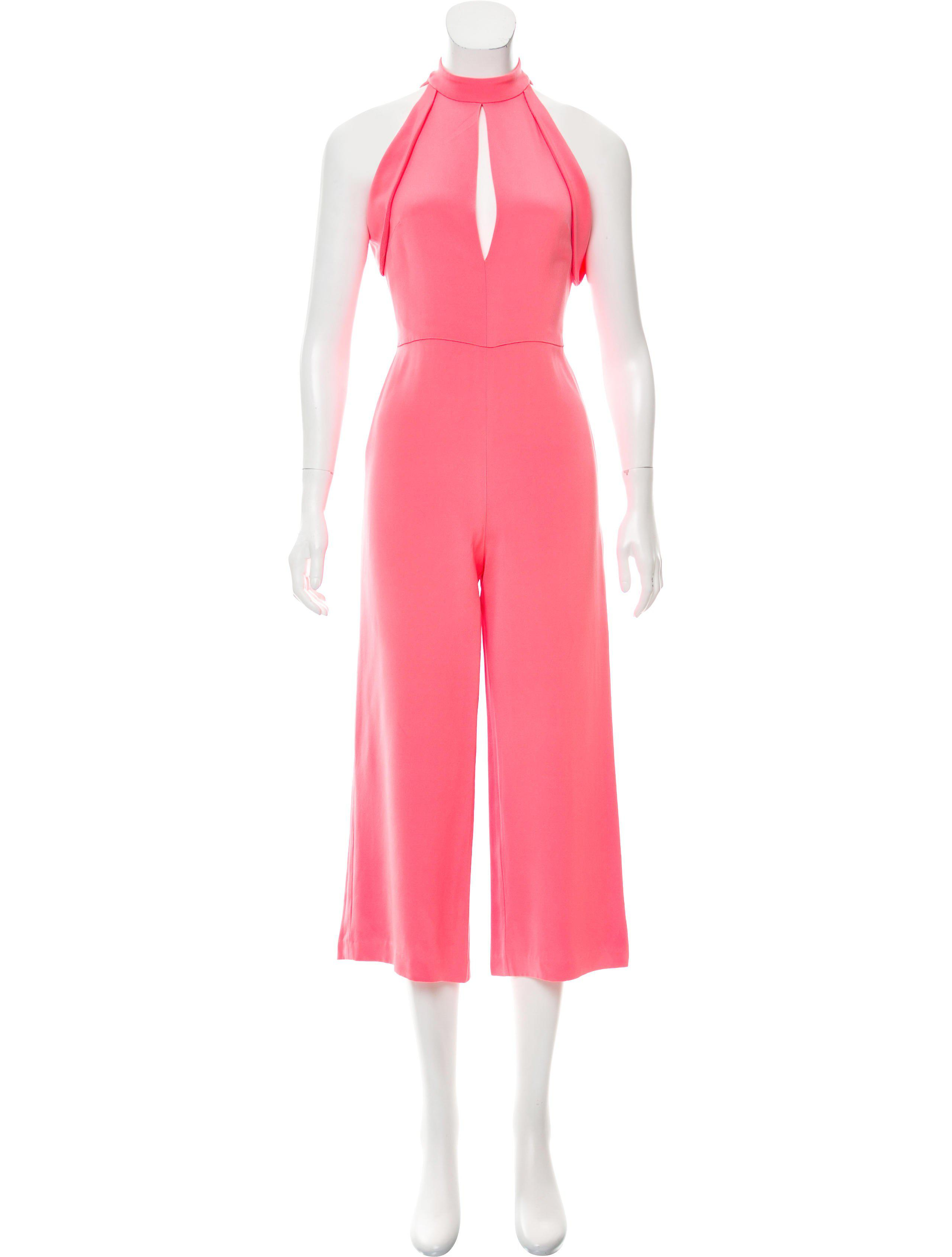 8c82986af662 Lyst - Cushnie Et Ochs Sleeveless Wide-leg Jumpsuit Neon in Yellow