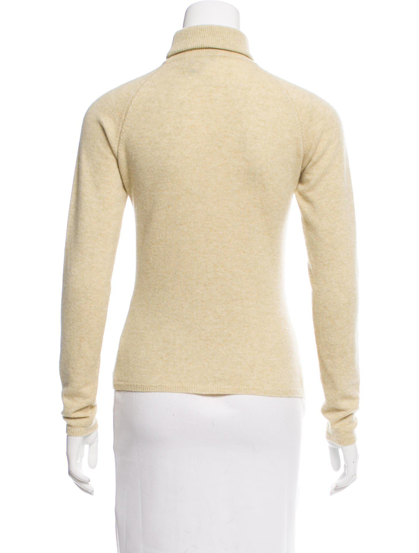Loro piana Cashmere Turtleneck Sweater in Yellow | Lyst