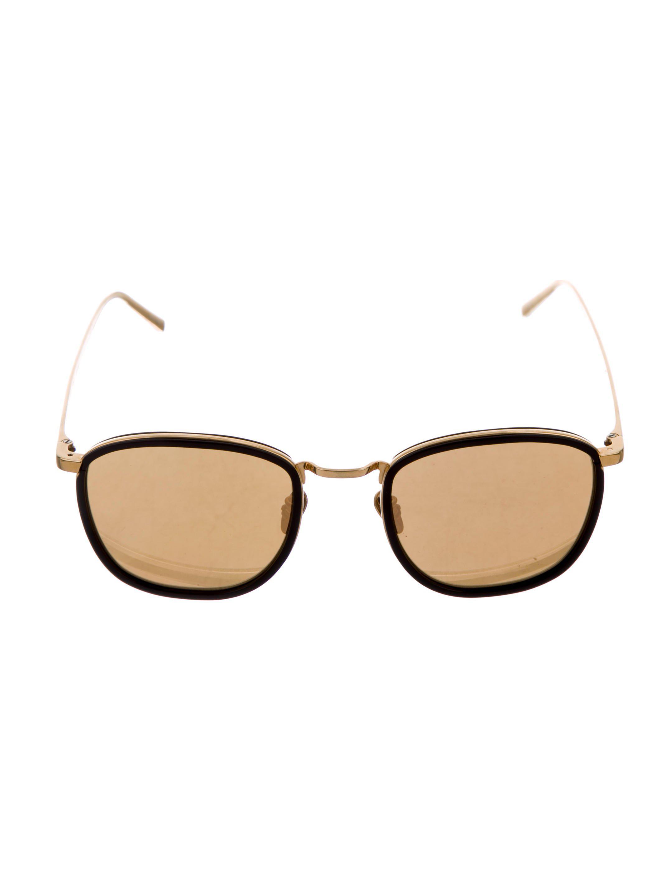 9cda6bc9530b Lyst - Linda Farrow Metal Mirror Sunglasses Gold in Metallic
