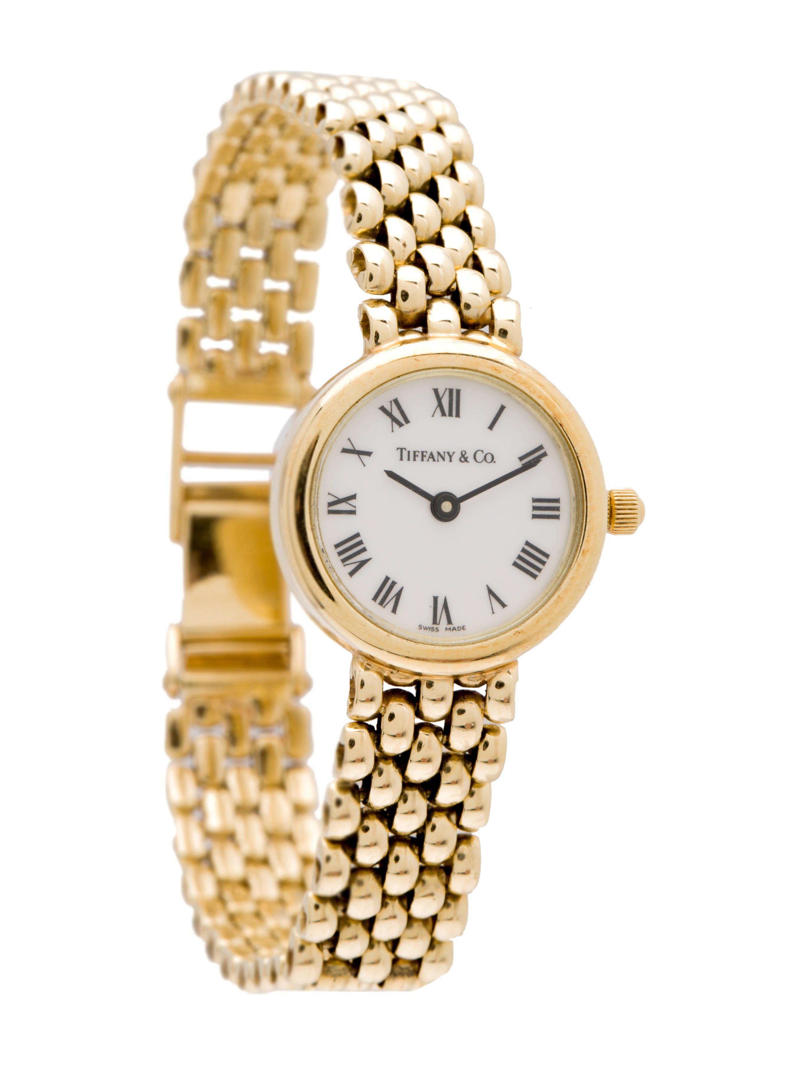 6b282d638f Lyst - Tiffany   Co Classic Watch Gold Tone in Metallic