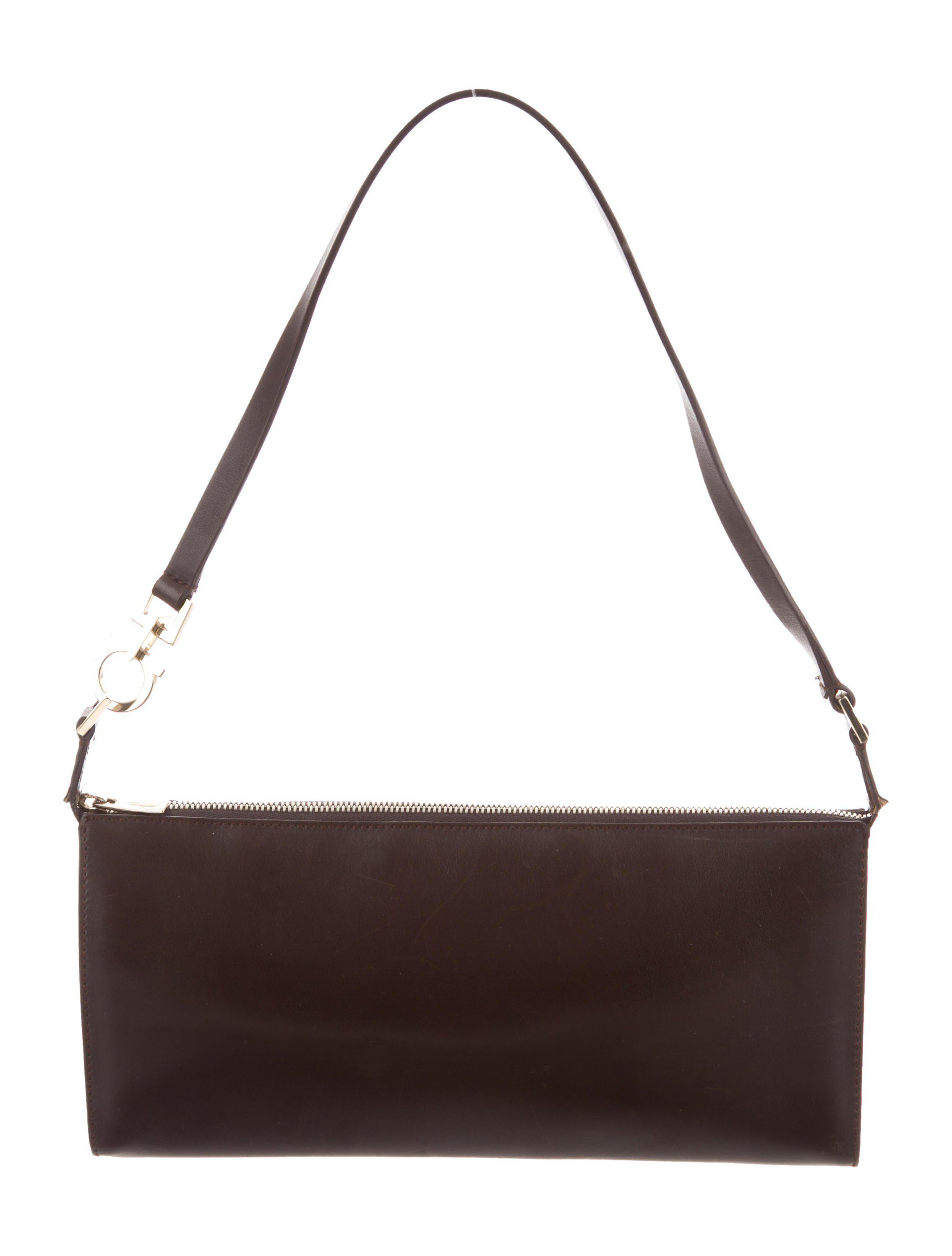 58576cb9e656 Lyst - Ferragamo Leather Shoulder Bag Brown in Metallic