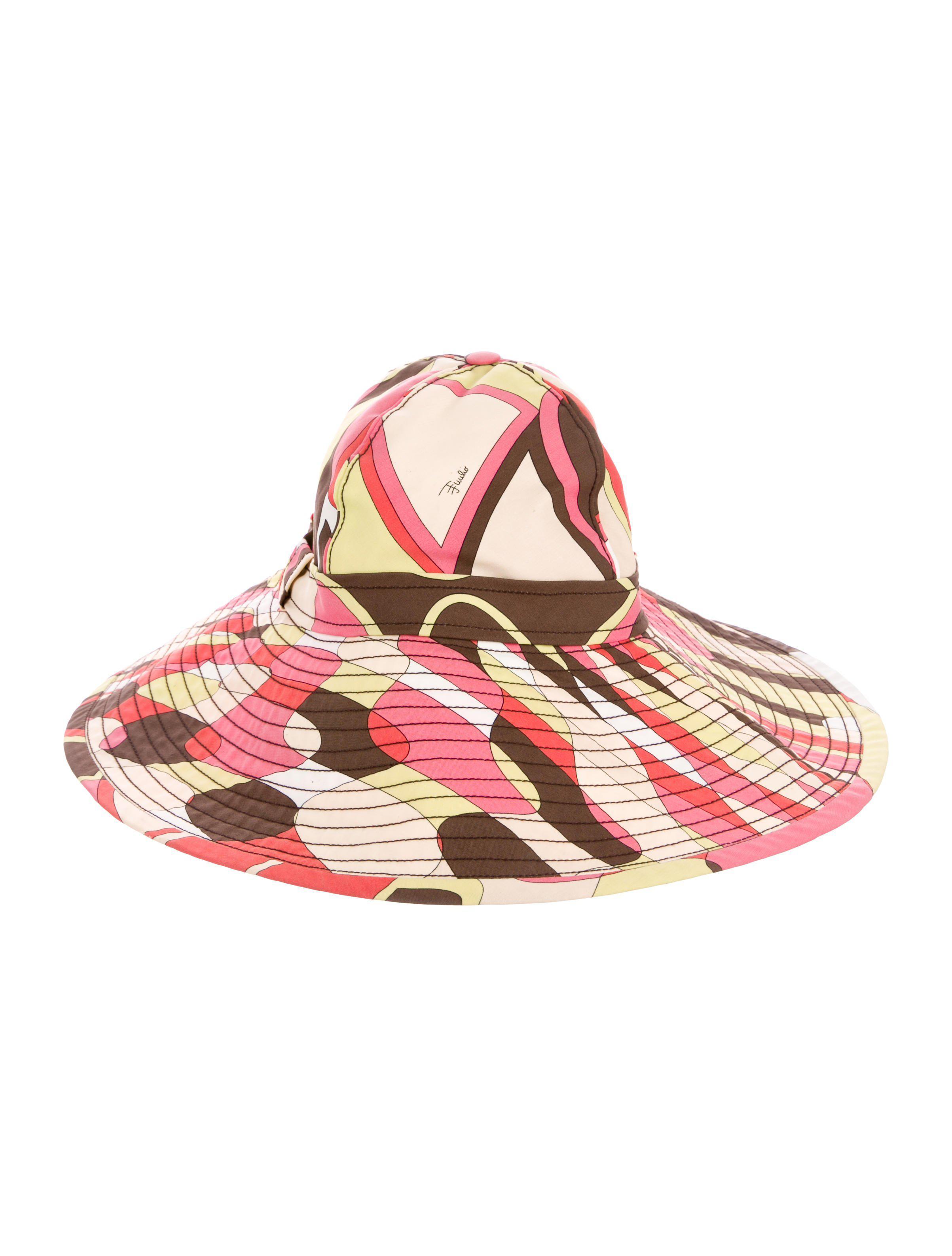 8ce7c795c6f03 Lyst - Emilio Pucci Printed Brim Hat in Pink
