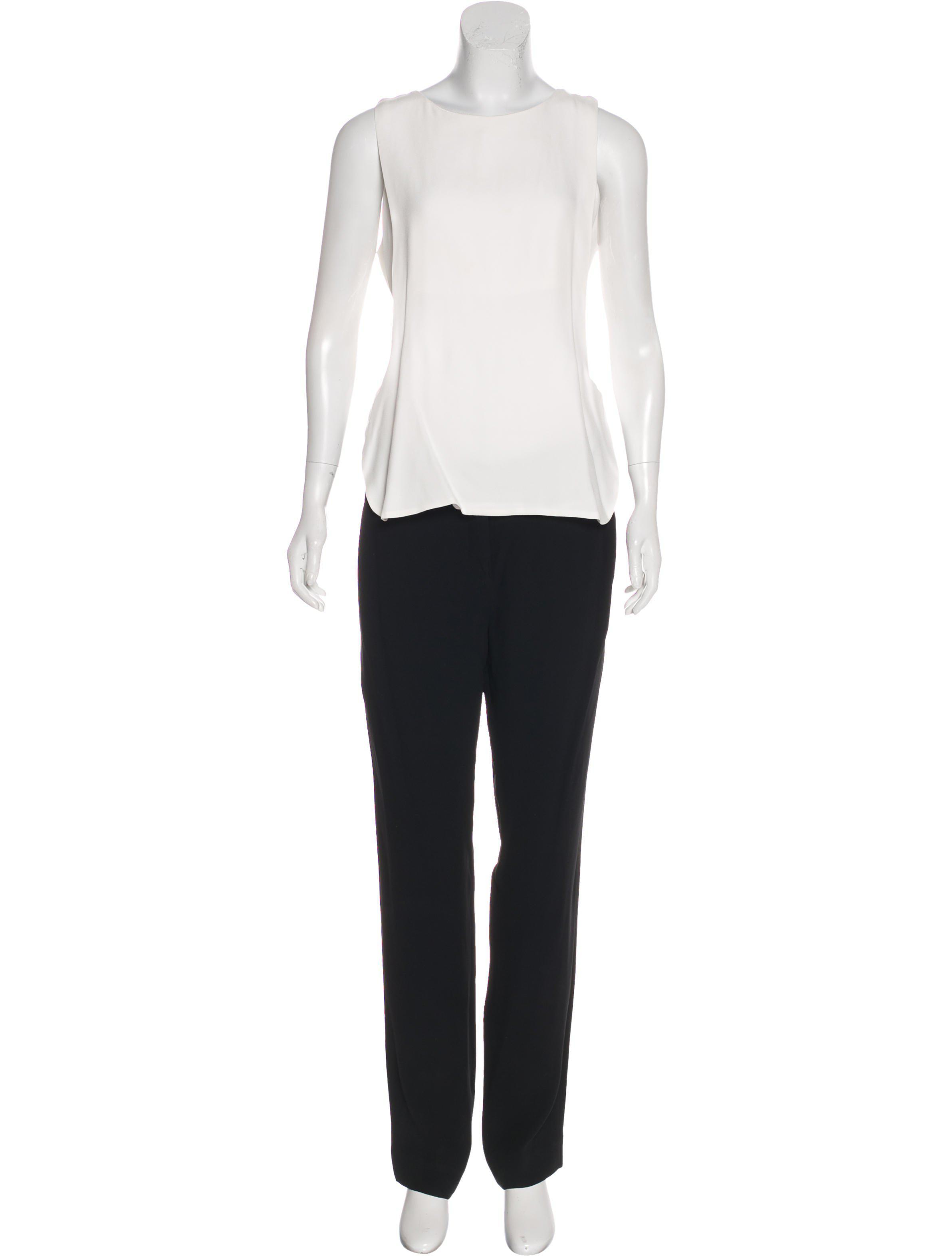 8c703a2c0511 A.L.C. - White Sleeveless Colorblock Jumpsuit - Lyst. View fullscreen