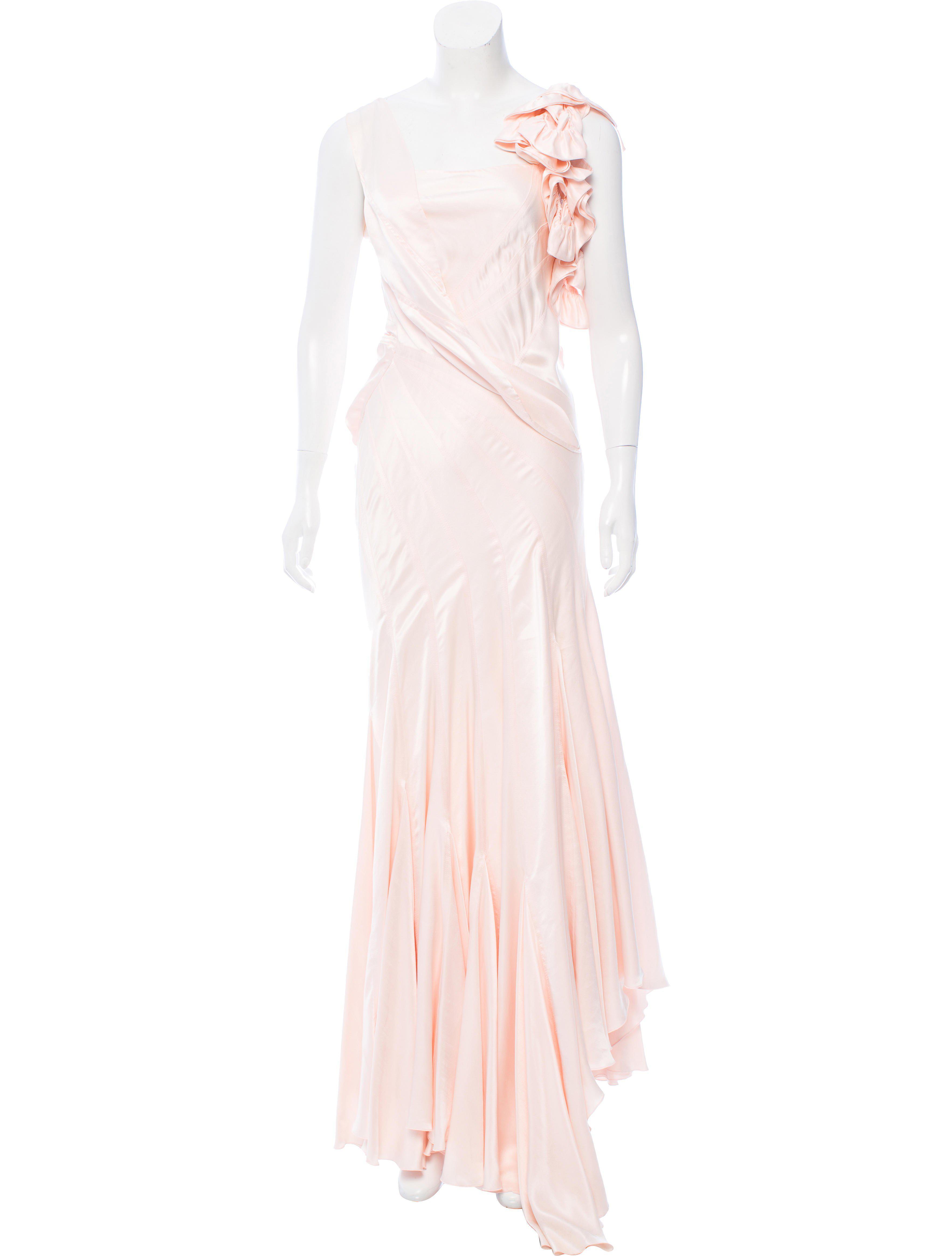 Roberto cavalli Silk Evening Gown in Pink | Lyst