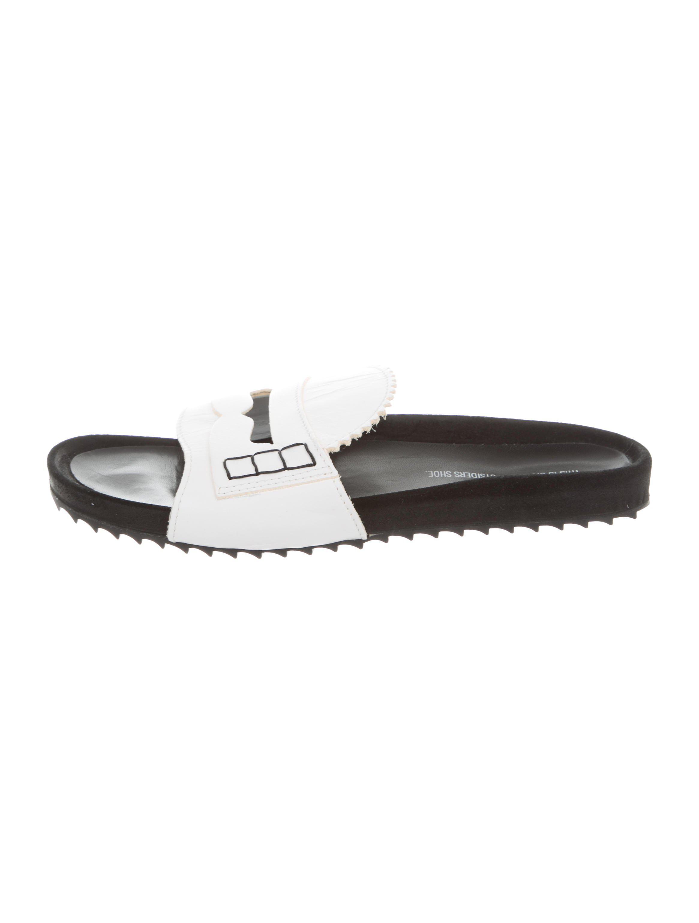 sale order cheapest price sale online Band of Outsiders Leather Slide Sandals best sale cheap price comfortable sale online clearance affordable ga104iarl