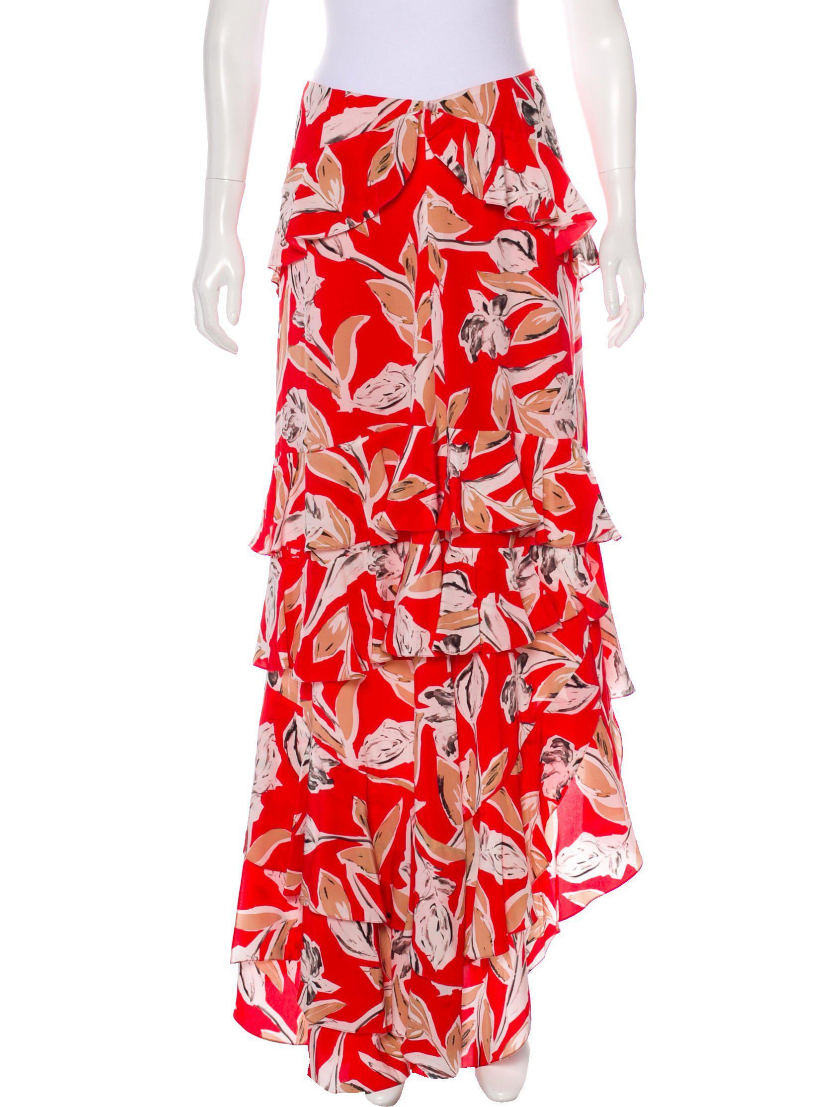 774678c672 Lyst - Sachin & Babi Silk Maxi Skirt W/ Tags in Red
