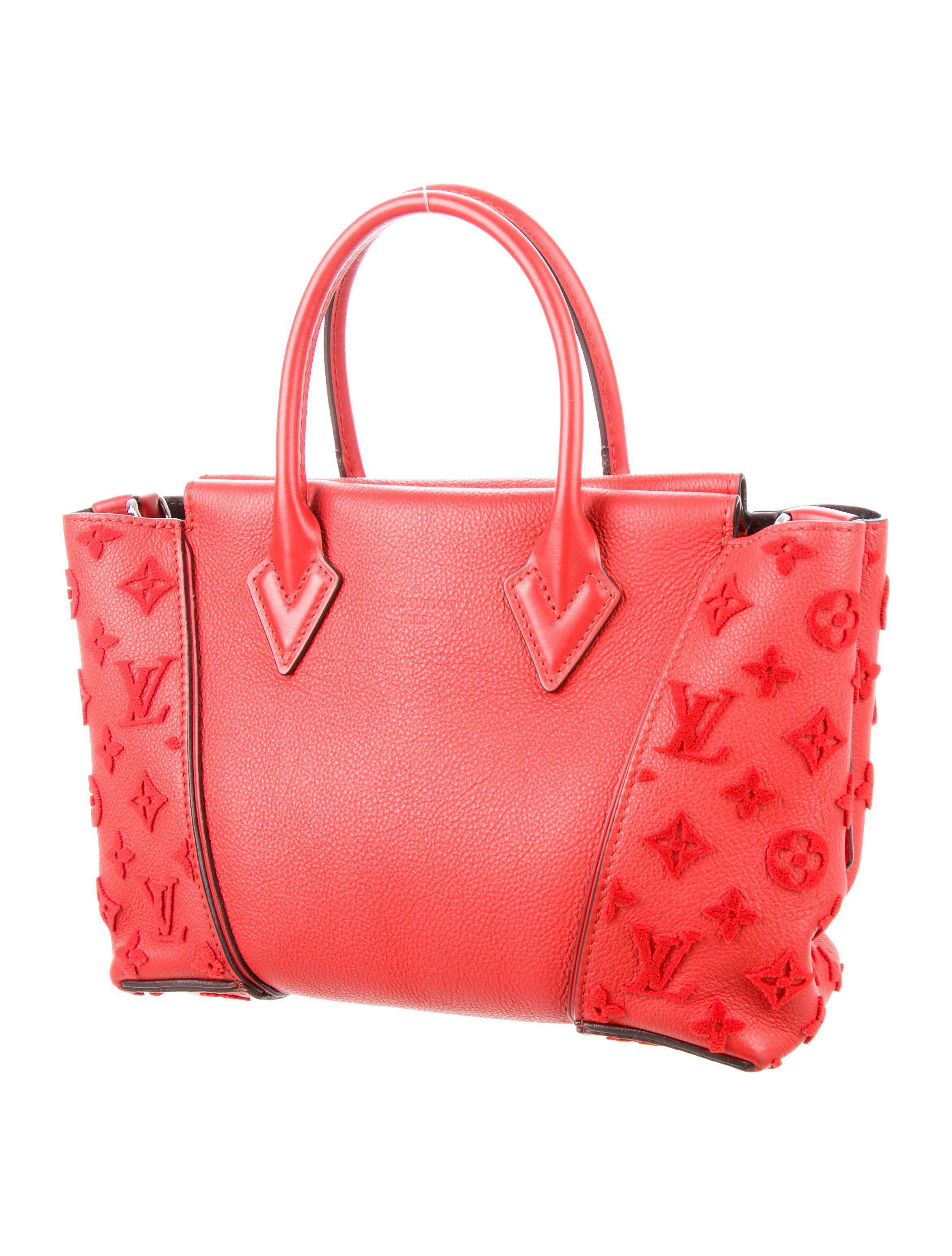 f5382938874e Lyst - Louis Vuitton Monogram Velours W Bb Red in Metallic