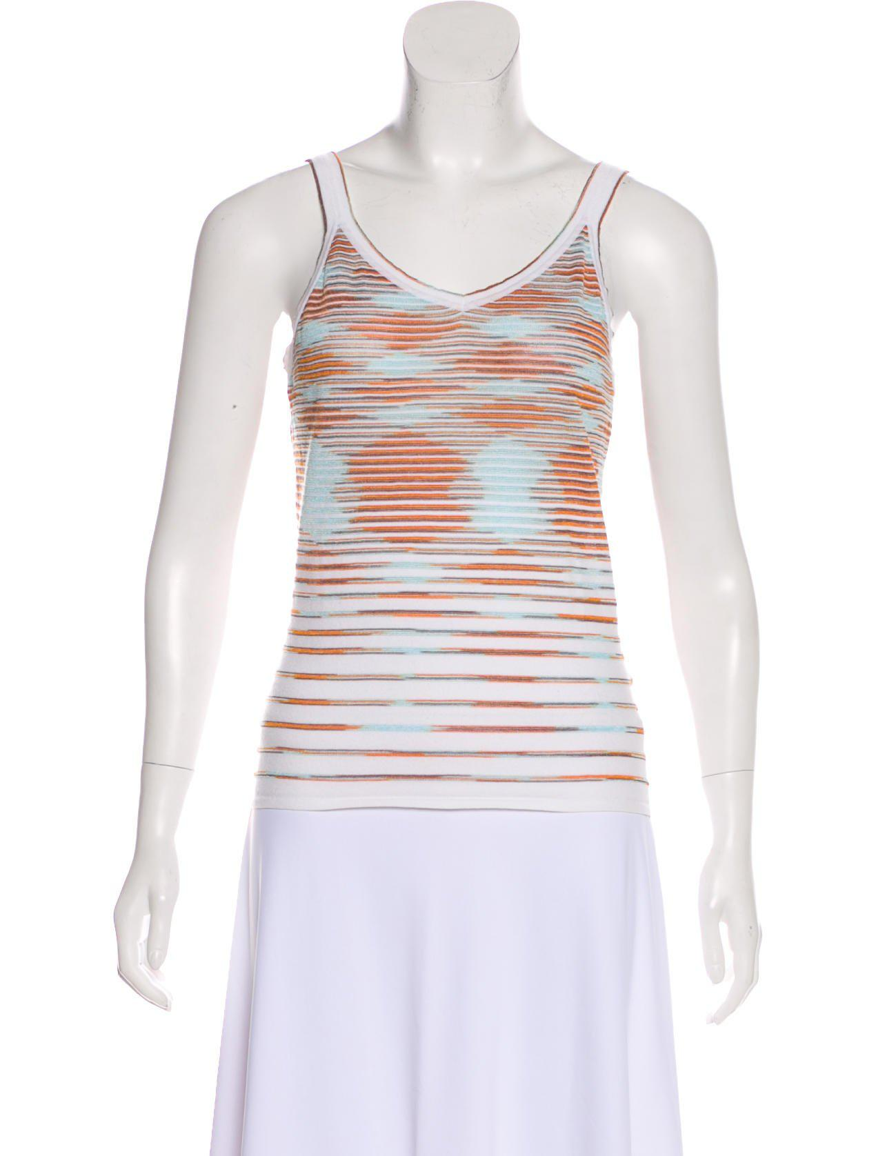 77573ace4 M Missoni. Women's Knit Striped Sleeveless Top Multicolor